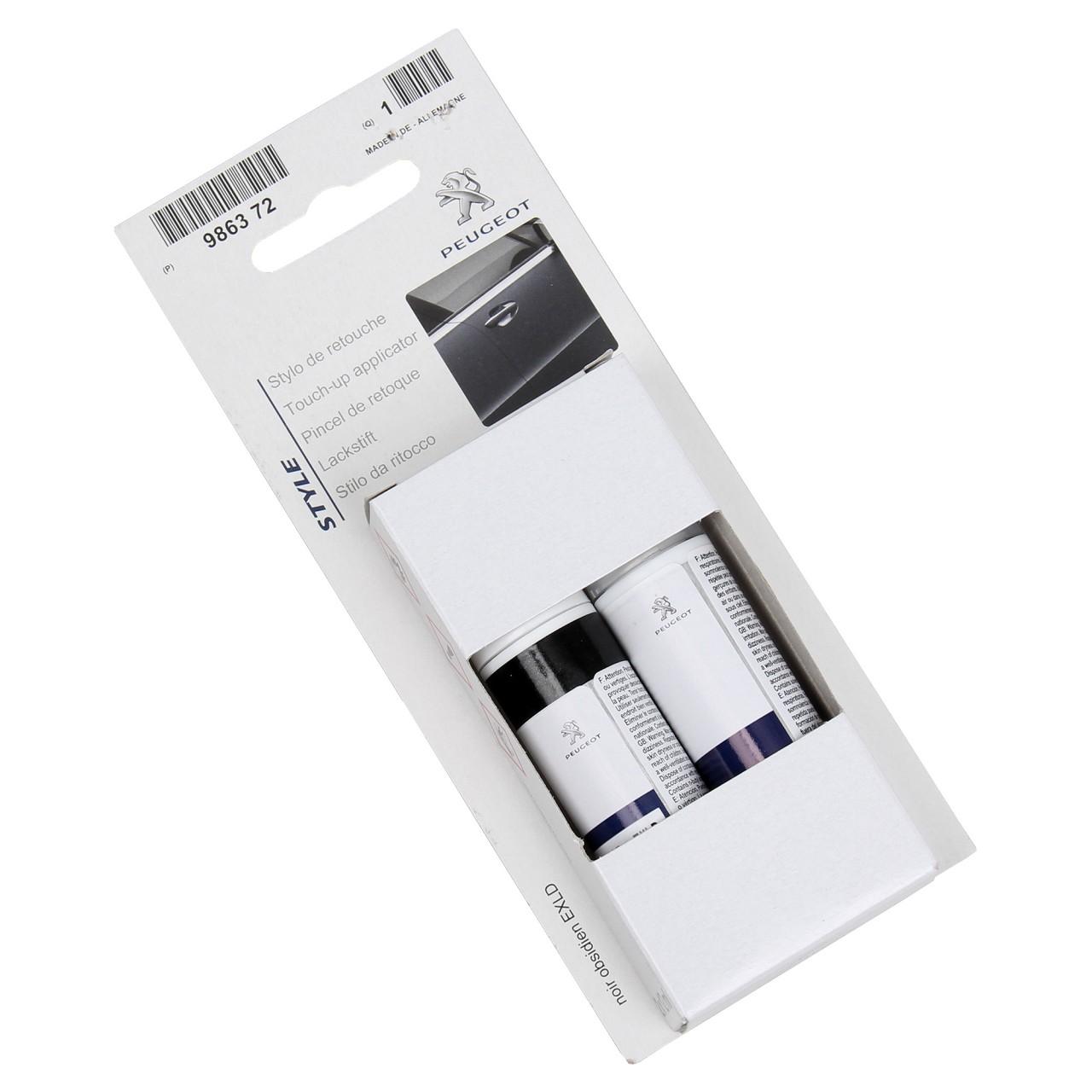 ORIGINAL PSA Lackstift Set SCHWARZ Obsidien EXL + 12ml Klarlack 9863.72