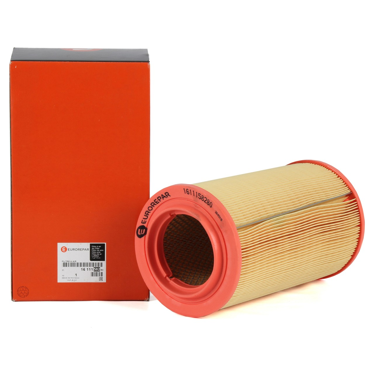 ORIGINAL PSA EUROREPAR Luftfilter JUMPER BOXER 2.0/2.2/3.0 HDi 1611158280