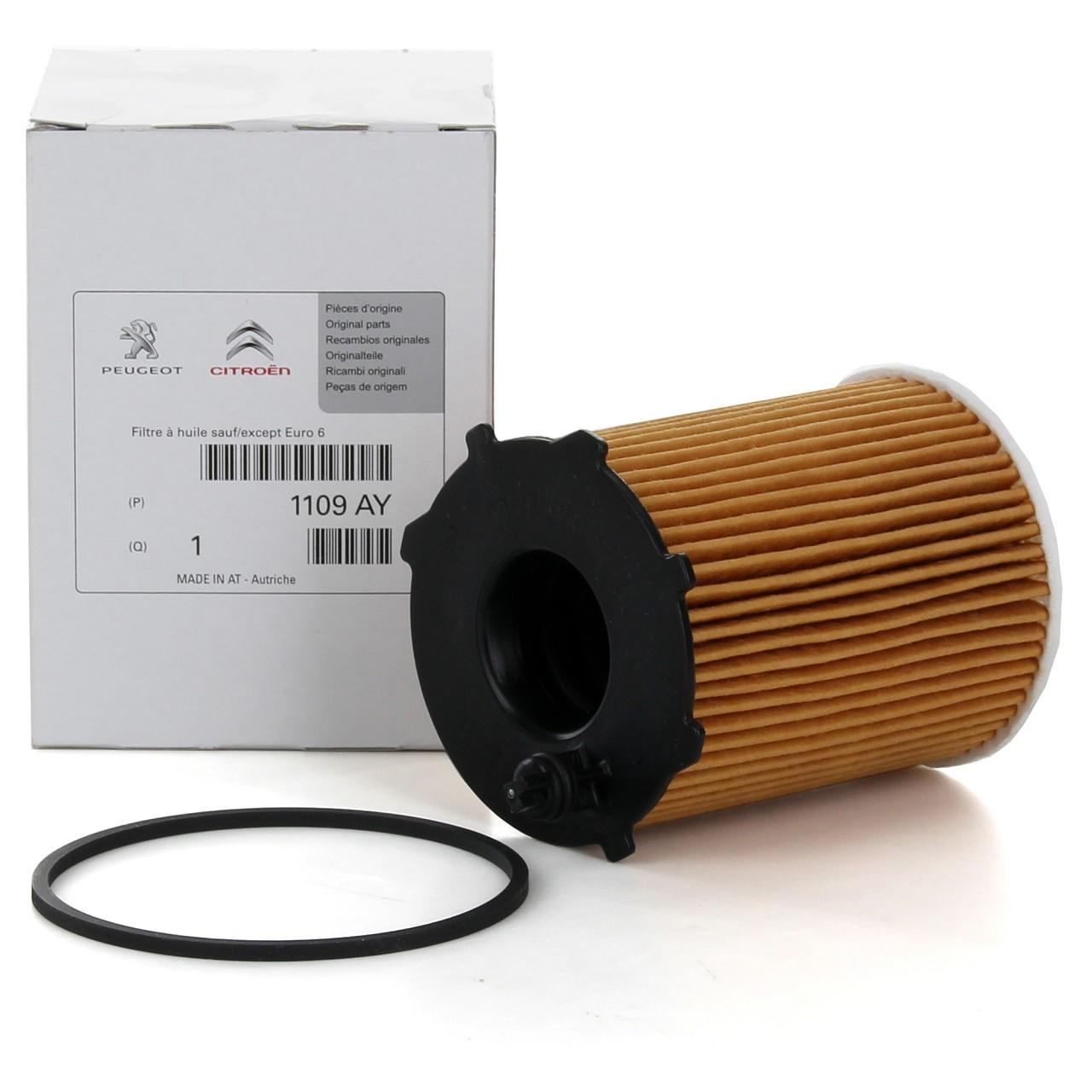ORIGINAL Citroen Peugeot Ölfilter Motorölfilter inkl. Dichtung 1109.AY