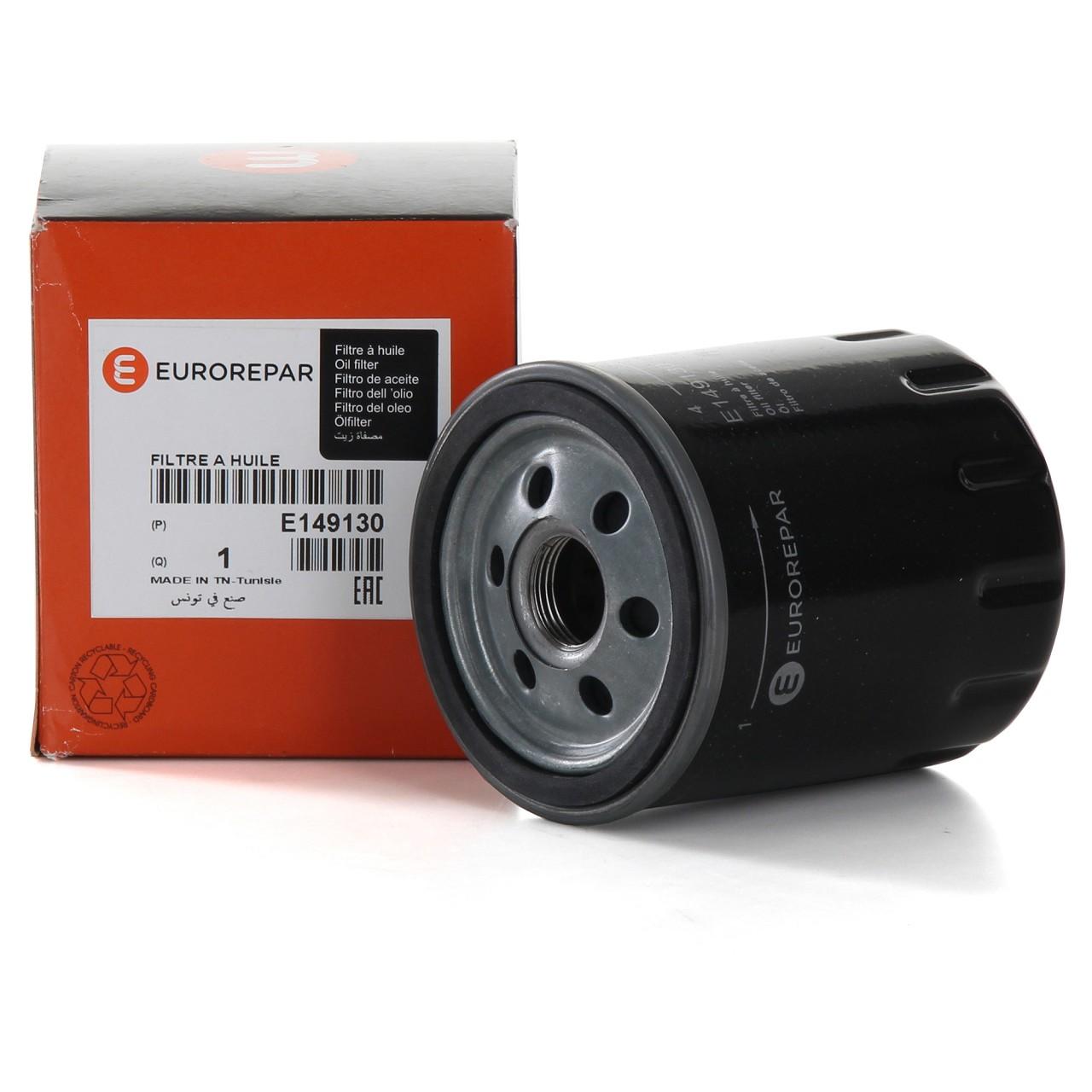 ORIGINAL Citroen Peugeot EUROREPAR Ölfilter Motorölfilter inkl. Dichtung E149130