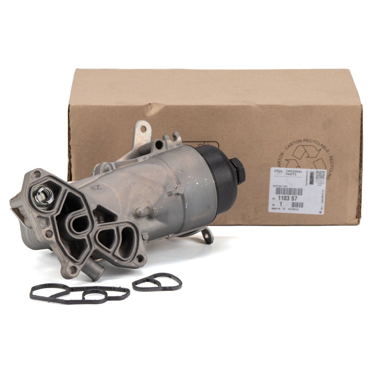 ORIGINAL PSA Ölfiltergehäuse + Ölkühler C3 C4 C5 207 208 308 508 1.6 HDi 1103.S7