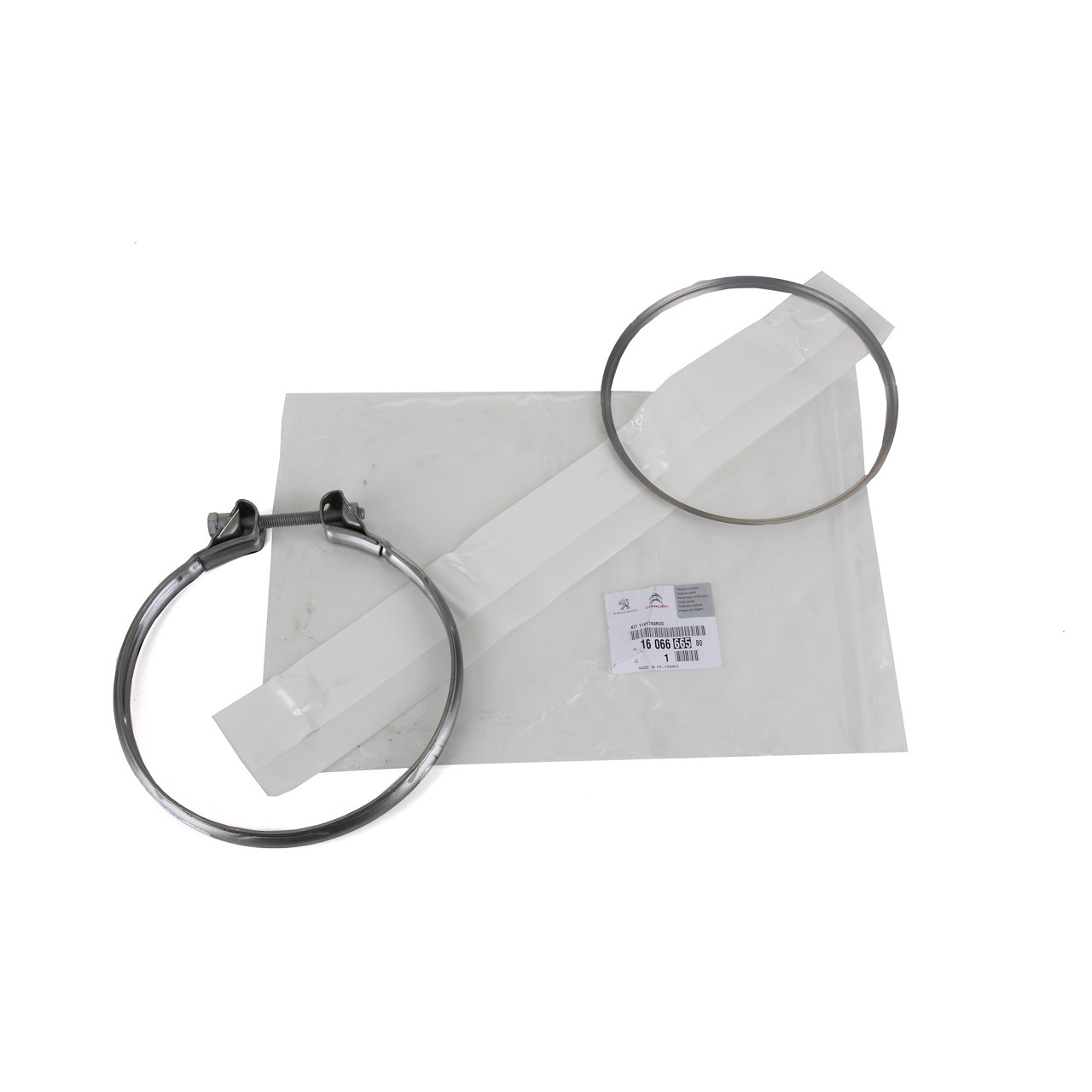 ORIGINAL Citroen Peugeot Rohrverbinder Montagesatz Schalldämpfer 1606666580