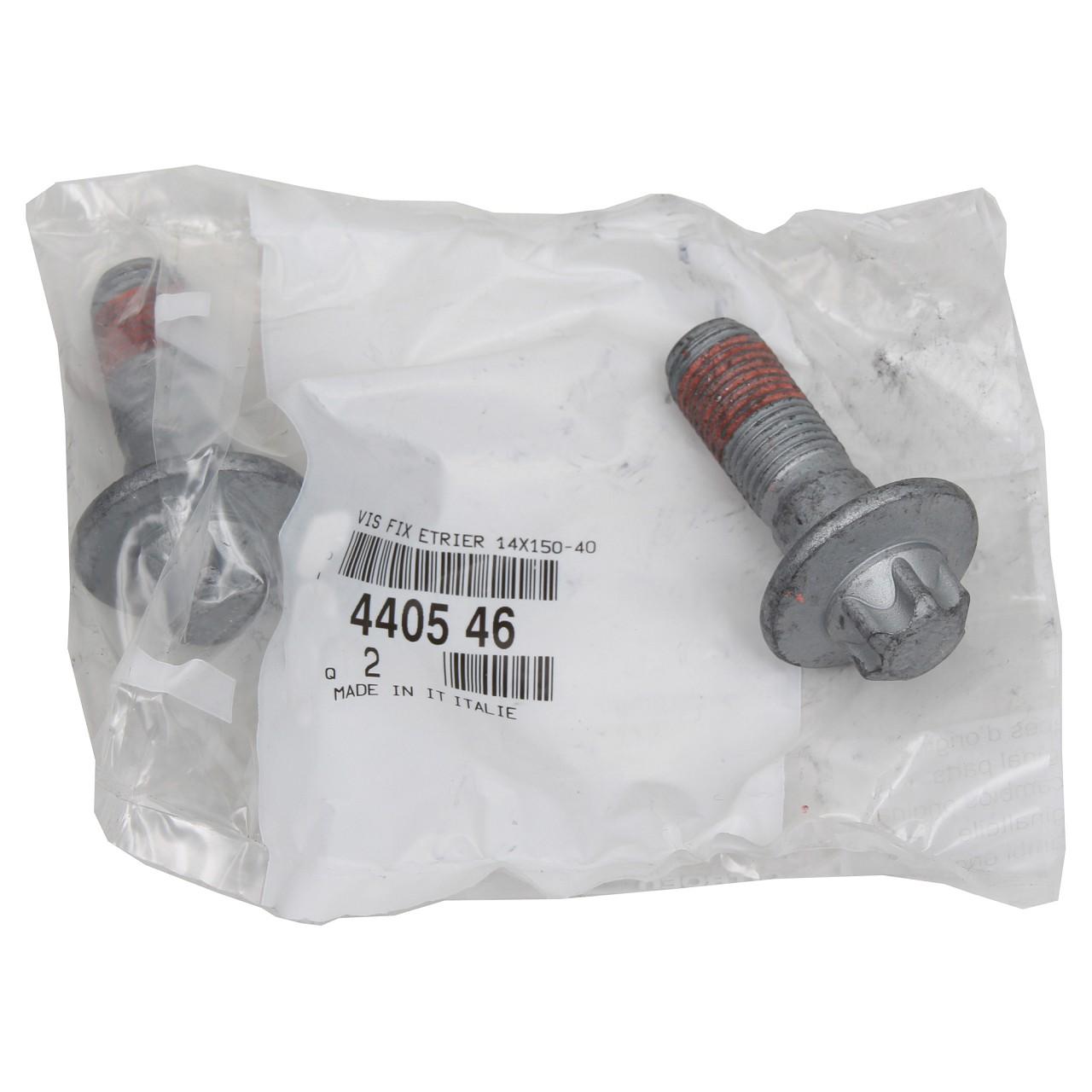 2x ORIGINAL Citroen Peugeot Schraube Bolzen Bremssattel M14x150-40 vorne 4405.46