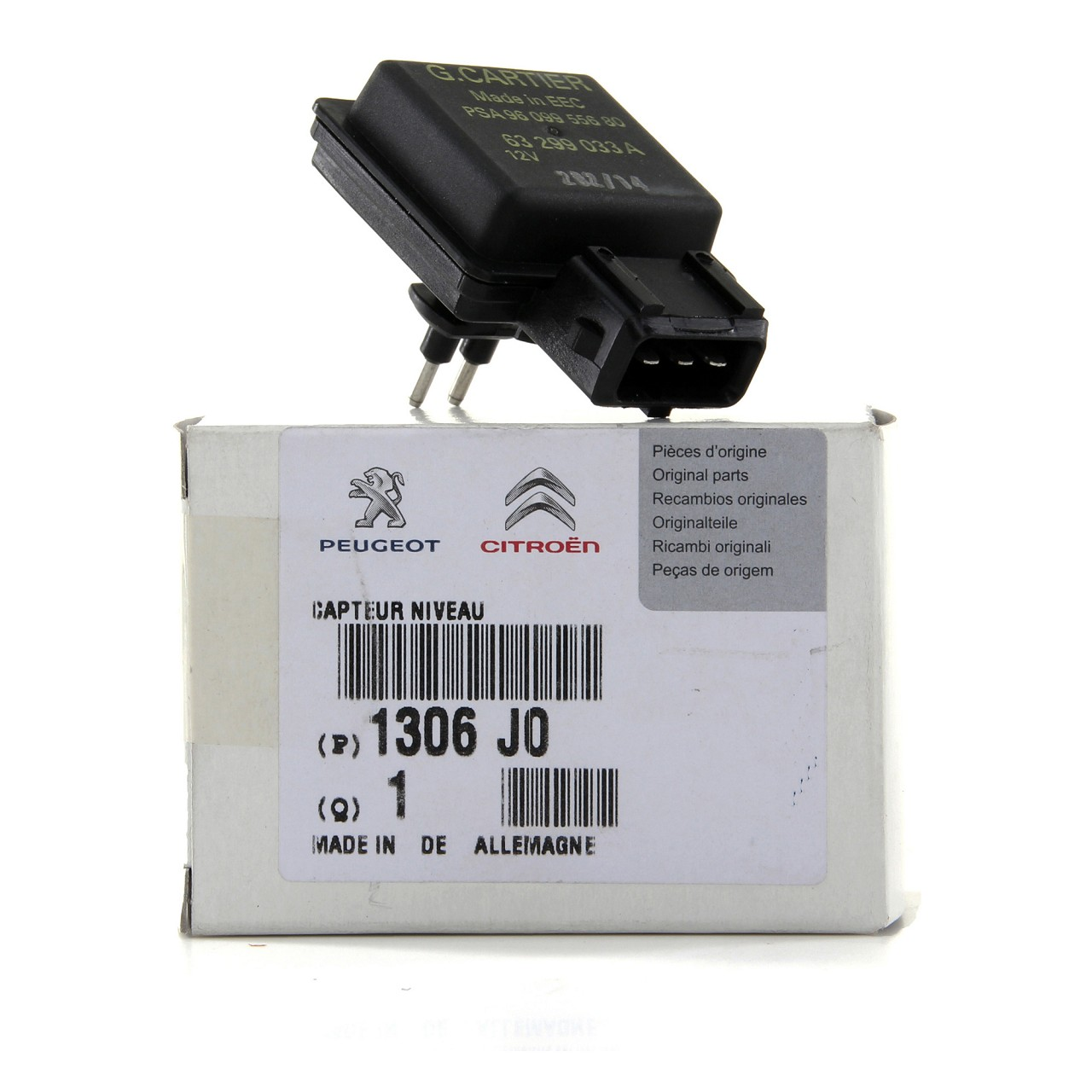ORIGINAL PSA Kühlmittelstandssensor Berlingo C3 3008 306 405 5008 607 1306.J0