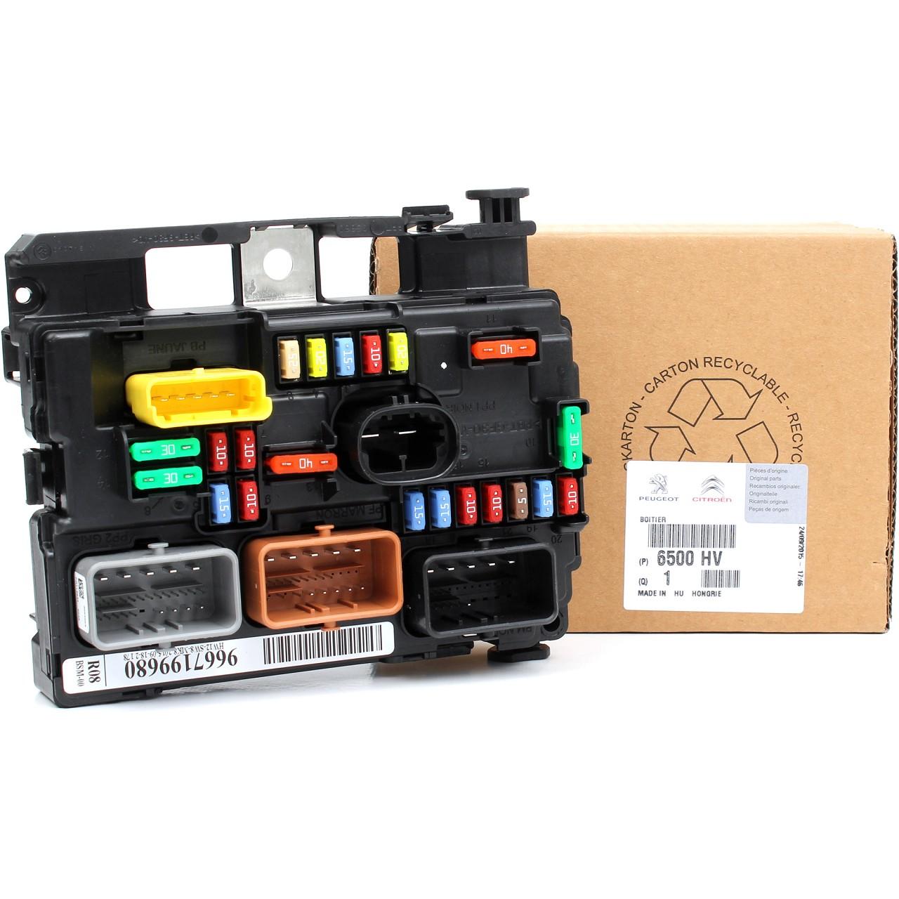ORIGINAL Peugeot Sicherungskasten Zentralelektronik 1007 207 / CC / SW 6500.HV