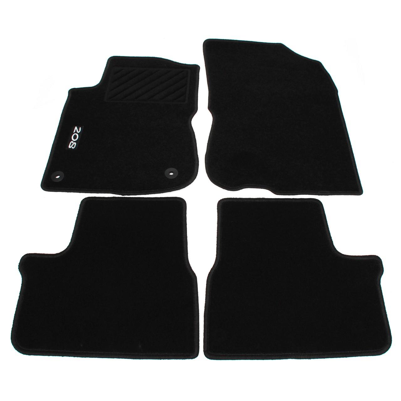 ORIGINAL Peugeot Veloursmatten Textilmatten Fußmatten Satz 208 4-tlg 1606631780