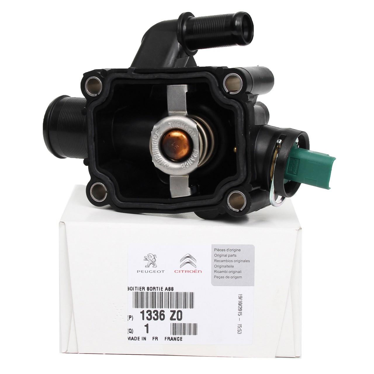 ORIGINAL Citroen Peugeot Thermostat + Gehäuse C2 C3 C4 206 207 307 308 1336.Z0