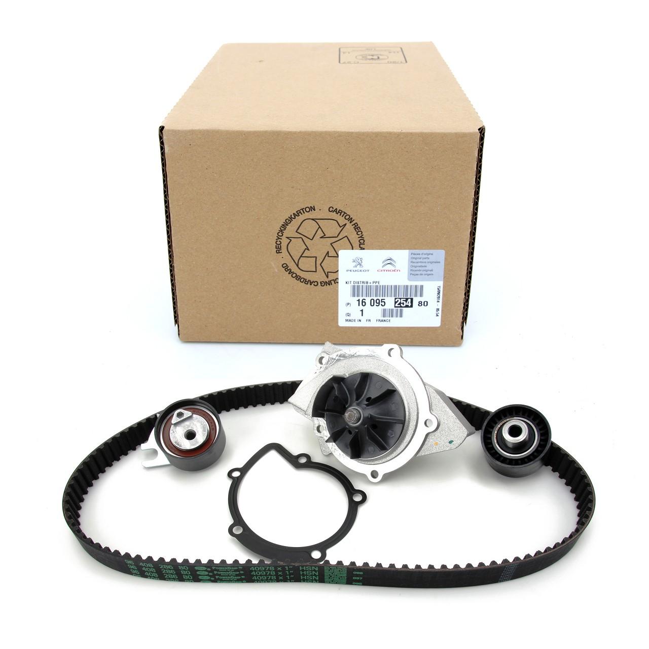 ORIGINAL Citroen Peugeot Zahnriemensatz Zahnriemenkit + Wasserpumpe 1609525480