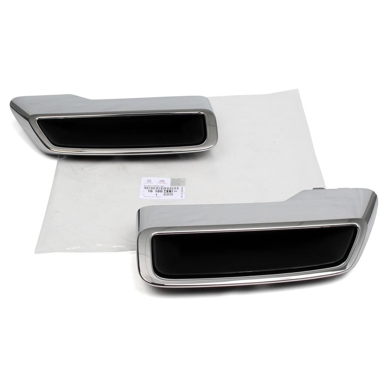 ORIGINAL Peugeot Zierleisten Set Stoßstange 1618041180 für 3008 SUV & 5008 II