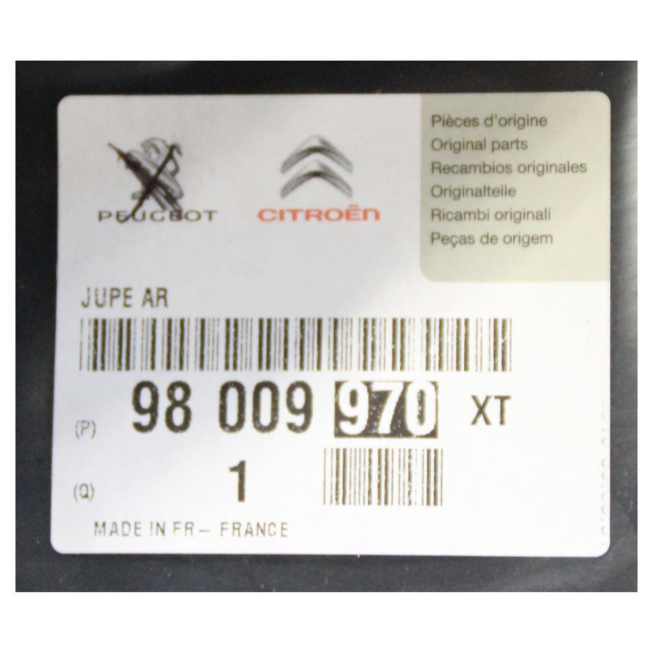 ORIGINAL Peugeot Stoßstange Stoßfänger Blende 308 SW II hinten 98009970XT