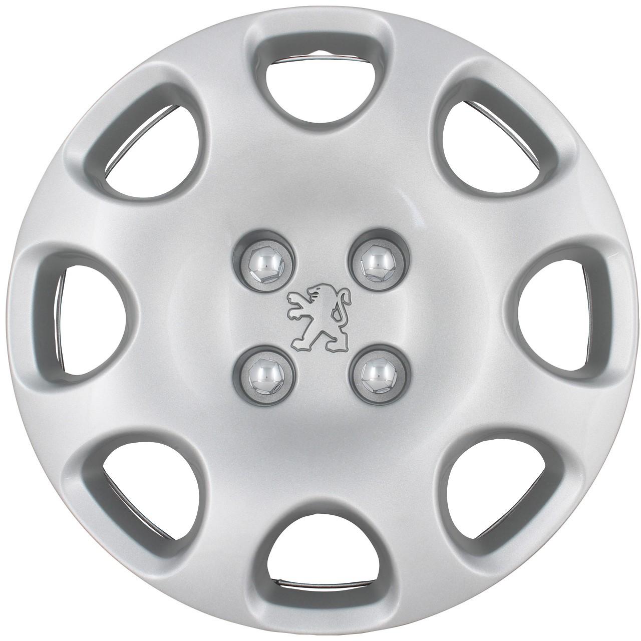 ORIGINAL Peugeot Radkappe Radblende 15 Zoll OCEANNE SILBER (1 Stück) 206 5416.F8