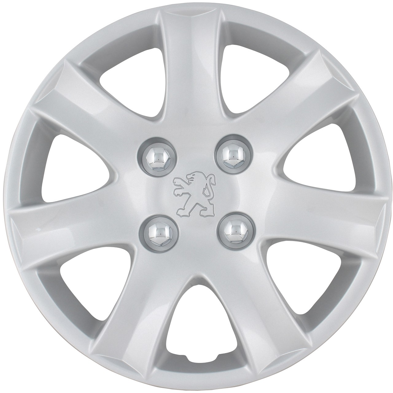 ORIGINAL Peugeot Radkappe Radblende 14 Zoll SPA SILBER (1 Stück) 206+ 5416.R0