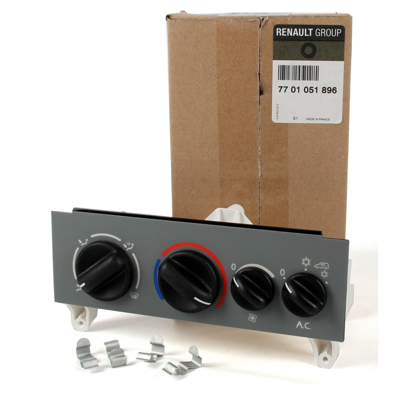 ORIGINAL Renault Bedienelement Klimaanlage 7701051896 für KANGOO / KANGOO Rapid