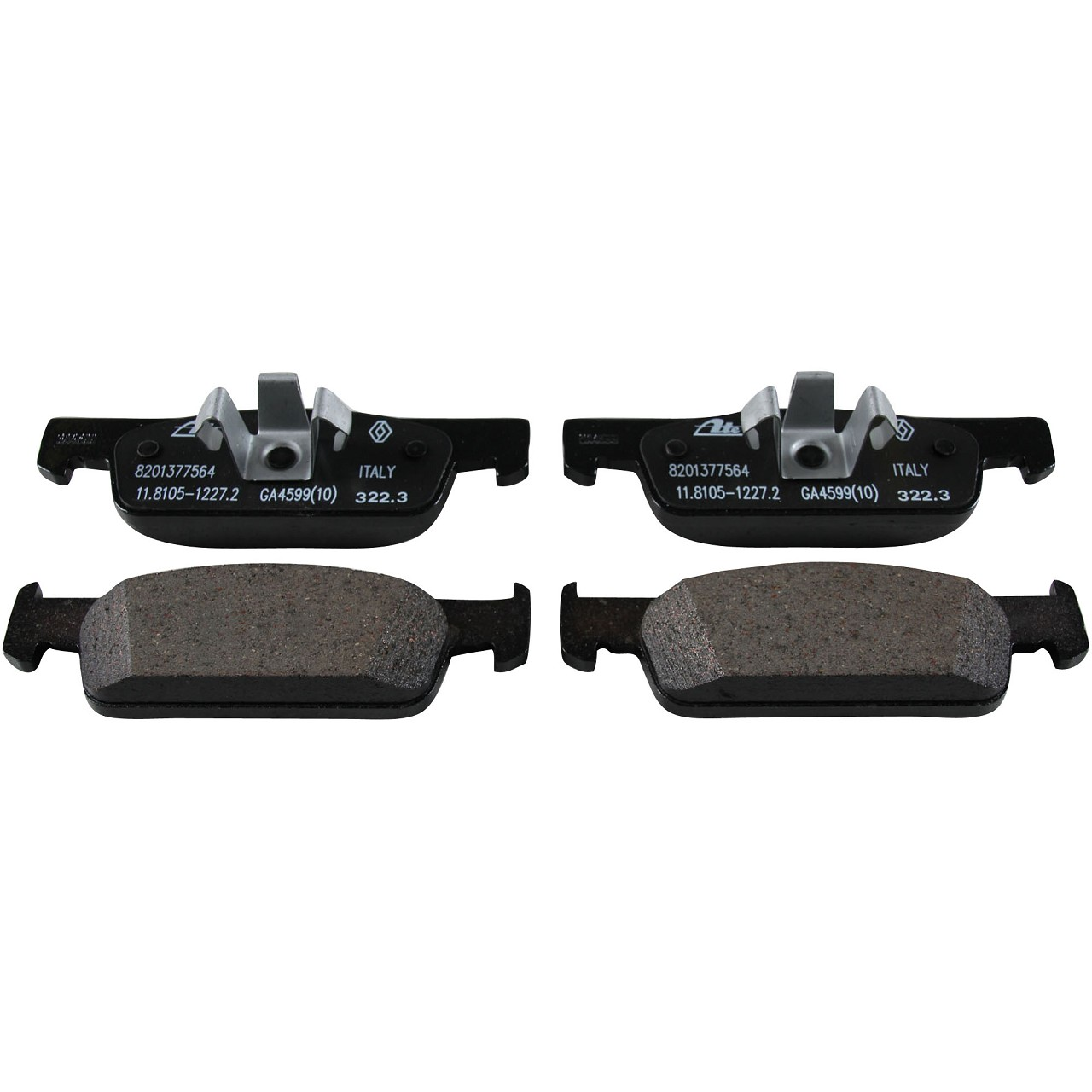ORIGINAL Renault Bremsen Kit Bremsscheiben + Beläge TWINGO III 1.0 SCe 70 vorne