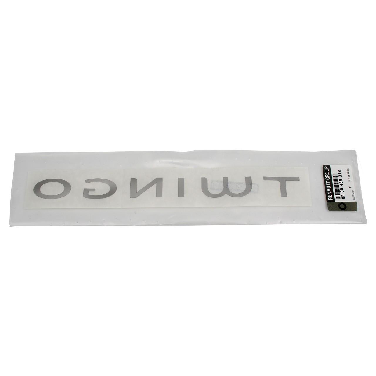 ORIGINAL Renault Emblem Plakette Schriftzug Heckklappe TWINGO II 8200486318