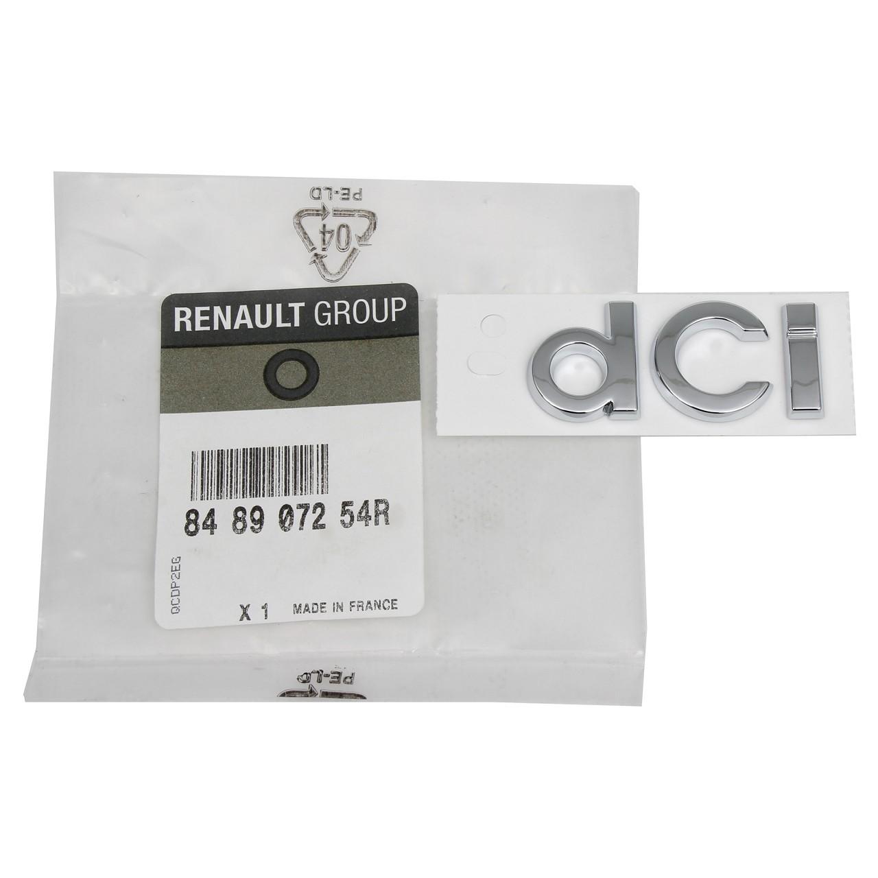 ORIGINAL Renault Emblem Plakette Schriftzug dCi für CLIO III IV 848907254R