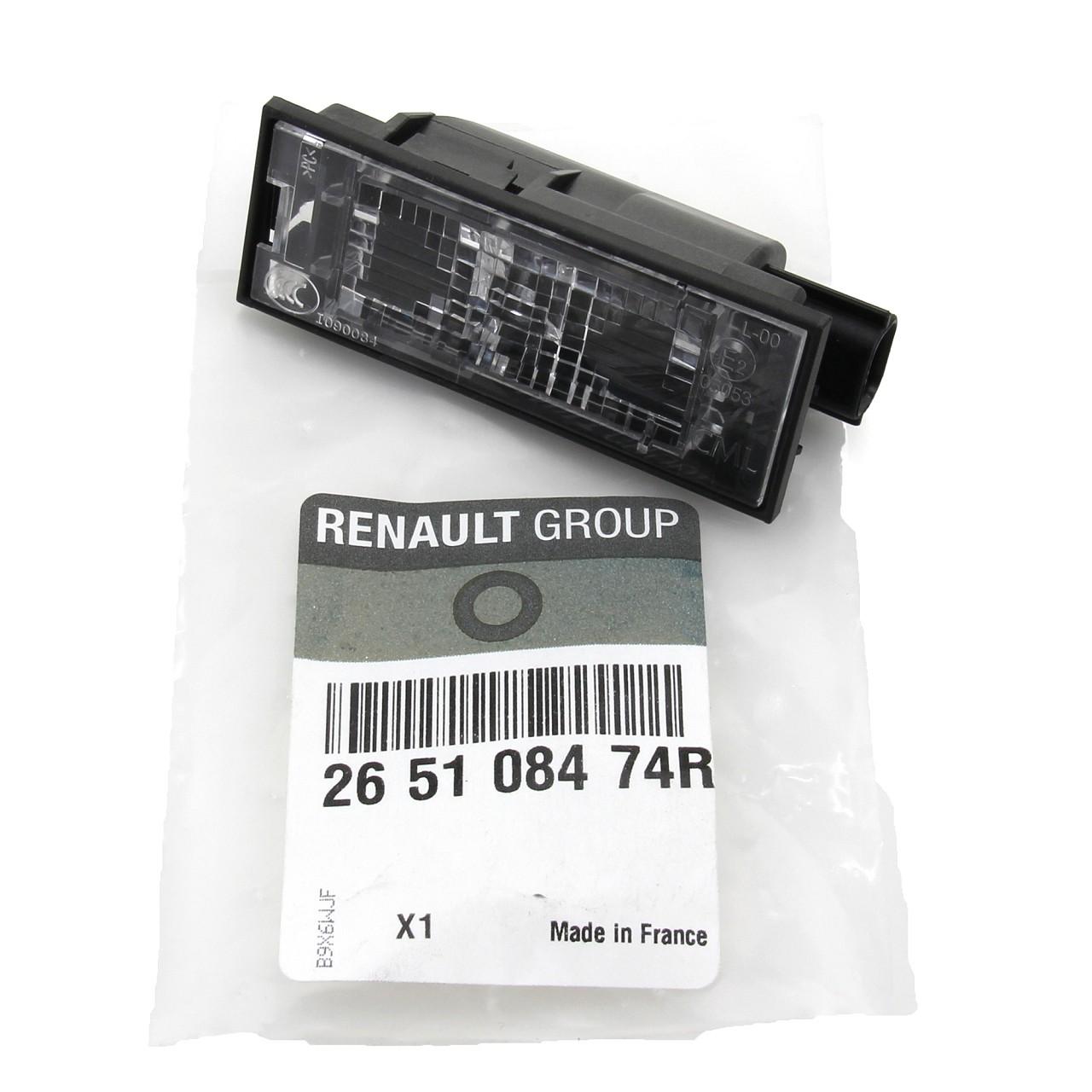 ORIGINAL Renault Kennzeichenleuchte Nummernschildleuchte Megane III 265108474R