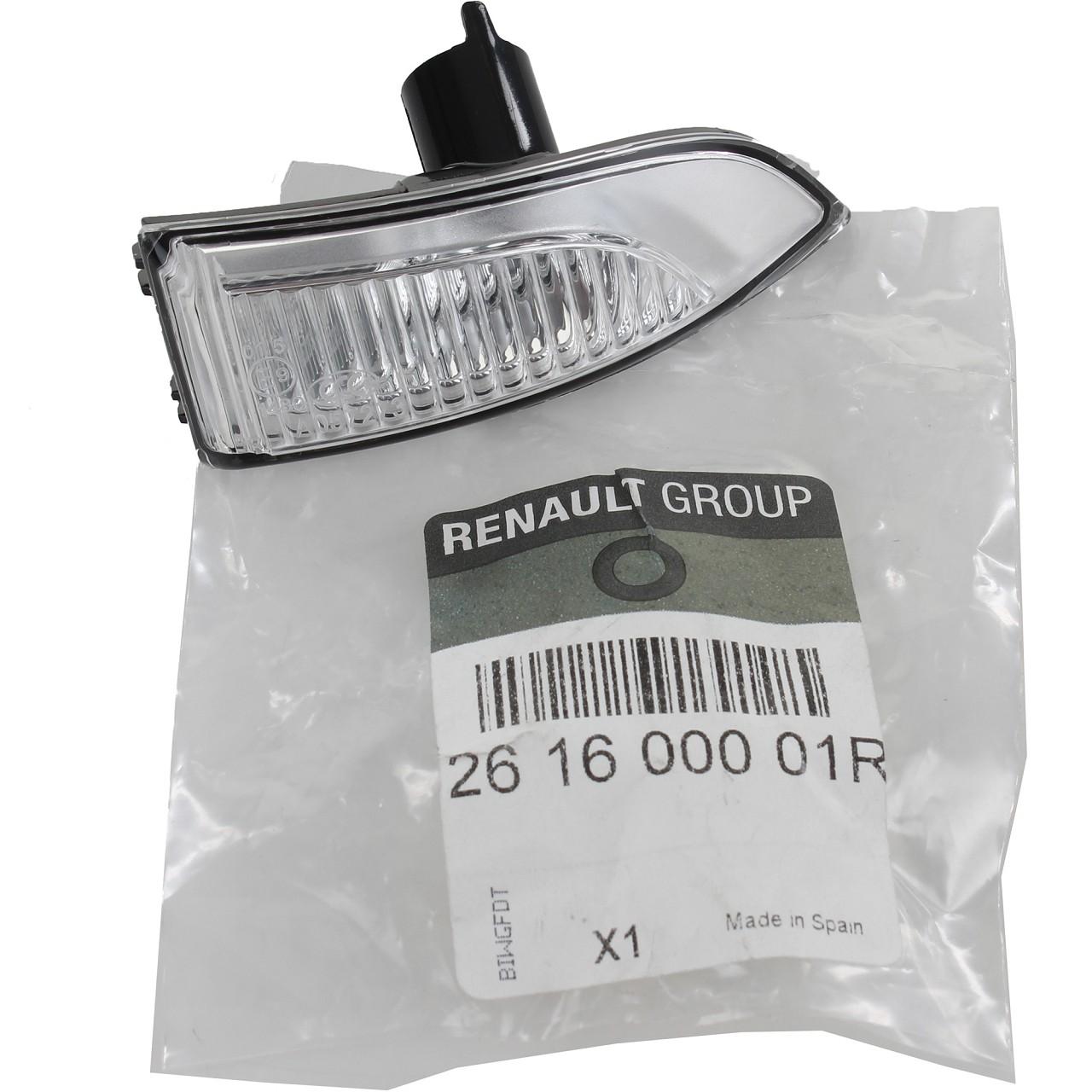 ORIGINAL Renault Lichtscheibe Außenspiegel Blinker Laguna III rechts 261600001R