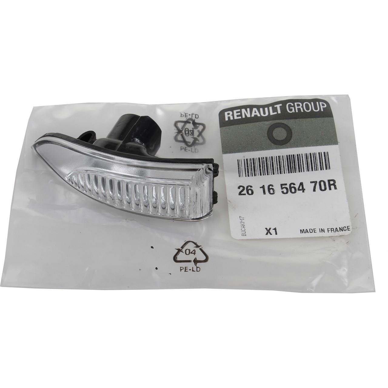 ORIGINAL Renault Lichtscheibe Außenspiegel Blinker Megane III links 261656470R