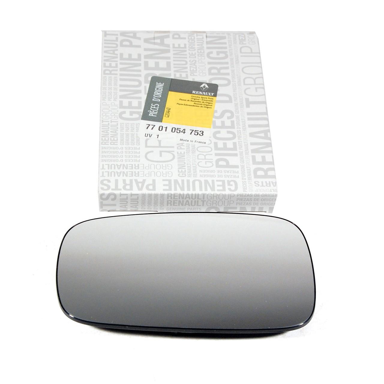 ORIGINAL Renault Außenspiegel Spiegelglas CLIO III MEGANE II SCENIC II rechts