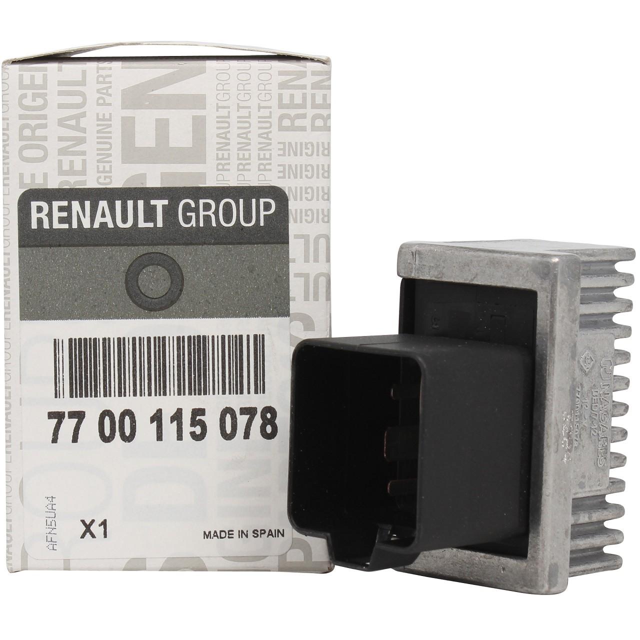 ORIGINAL Renault Vorglührelais Steuergerät Glühzeitrelais 7700115078