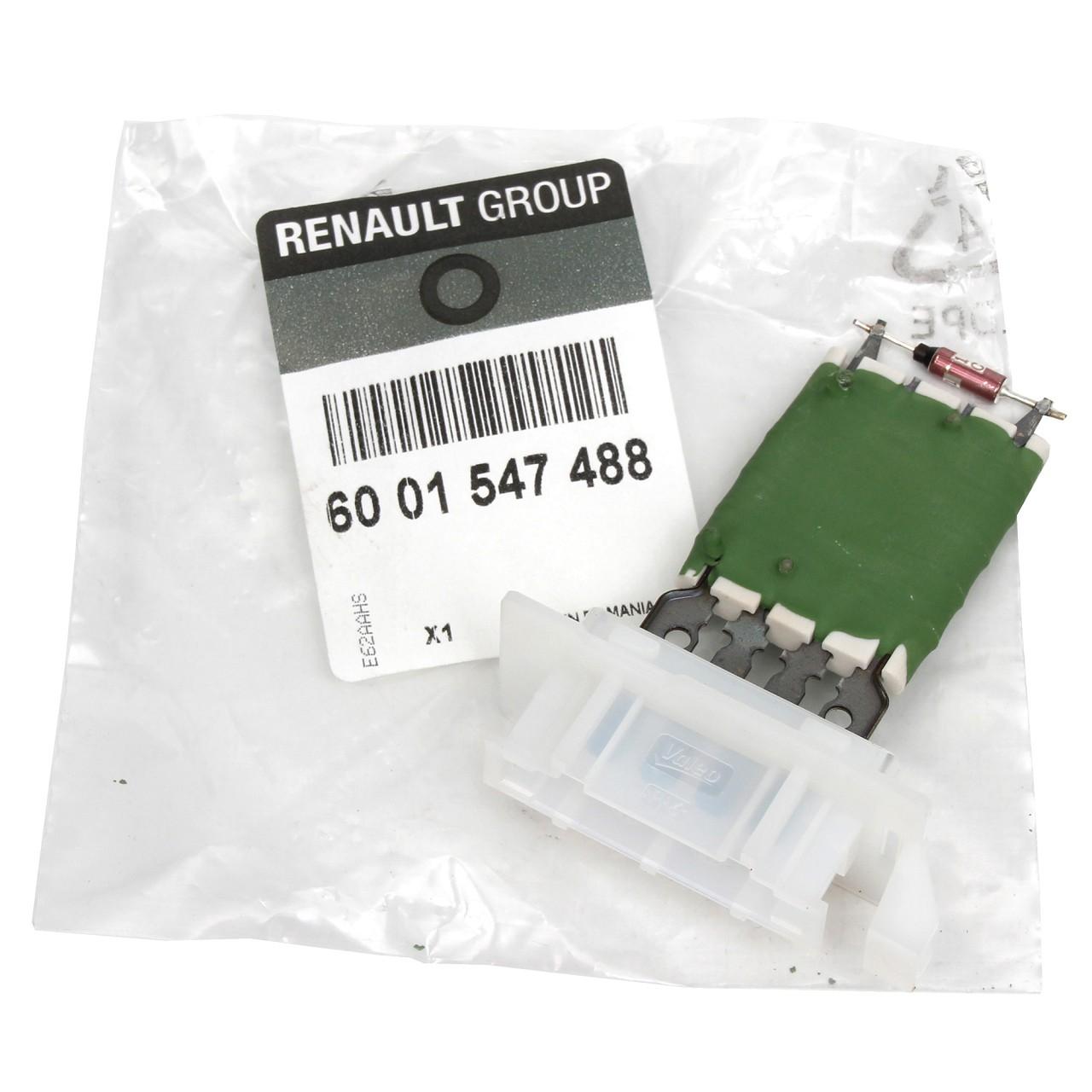 ORIGINAL Renault Dacia Widerstand Vorwiderstand Innenraumgebläse 6001547488