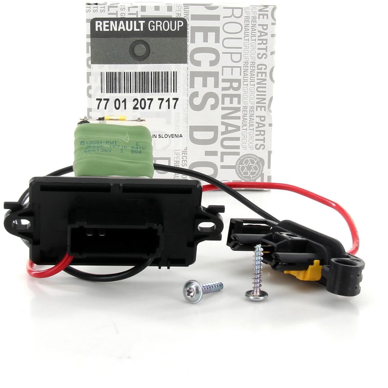 ORIGINAL Renault Widerstand Vorwiderstand Innenraumgebläse Megane II 7701207717