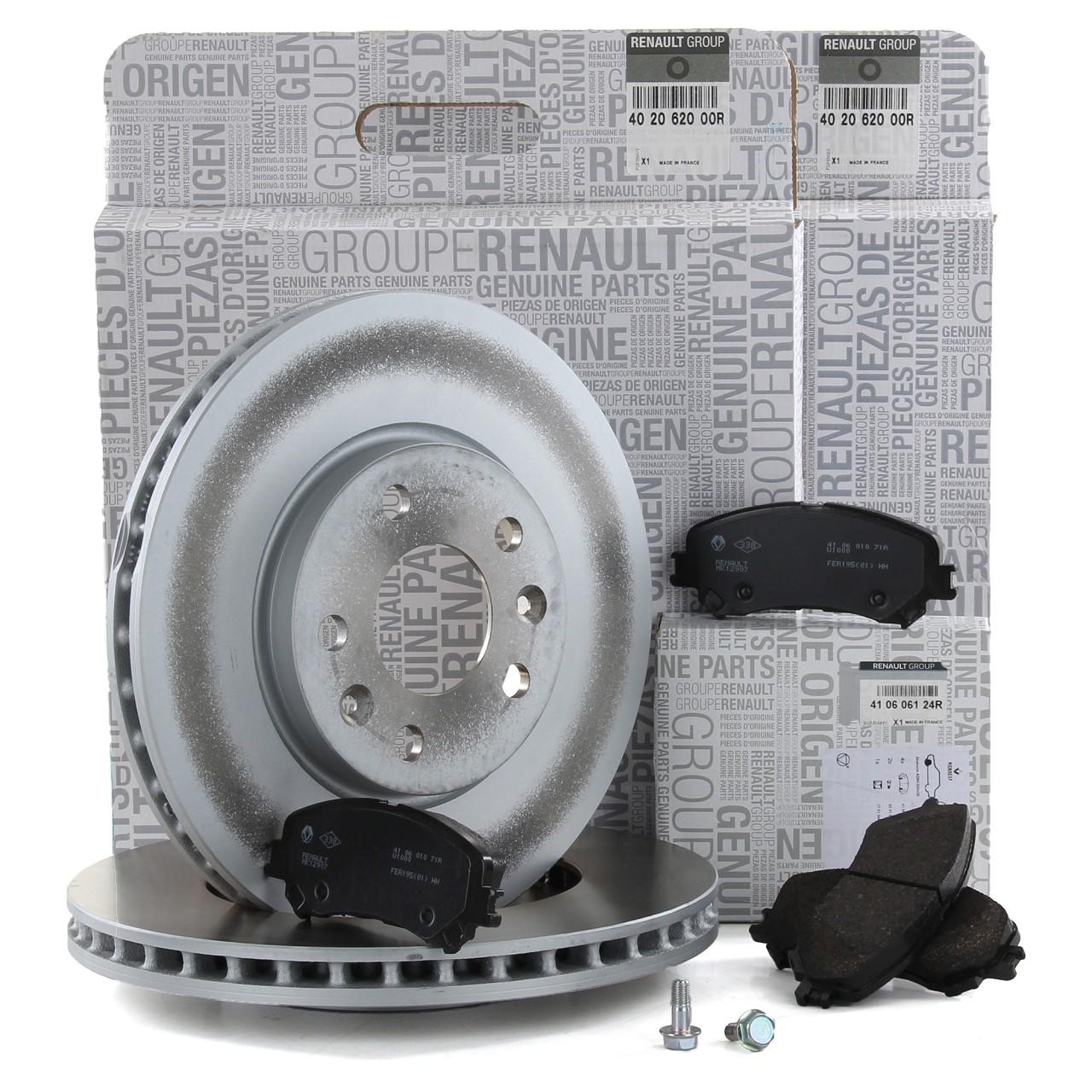 ORIGINAL Renault Bremsen Bremsscheiben + Bremsbeläge MEGANE IV TALISMAN vorne