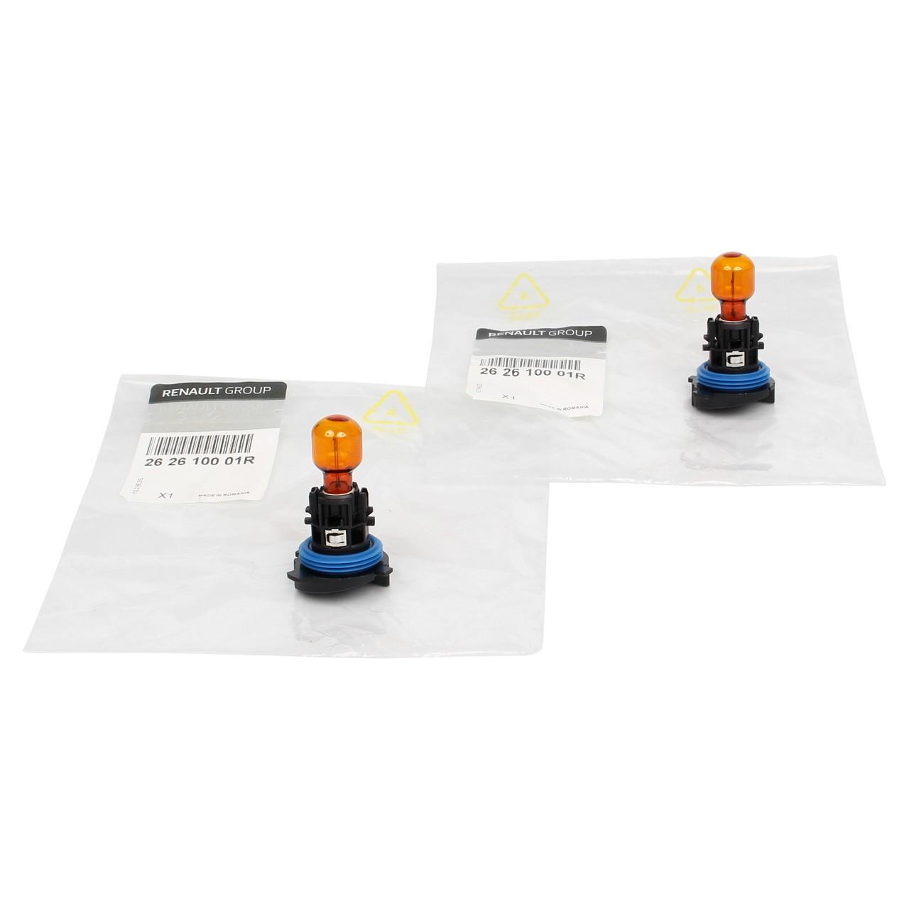 2x ORIGINAL Renault Glühlampe Halogenlampe P24W ORANGE 12V 24W HP24WA 262610001R