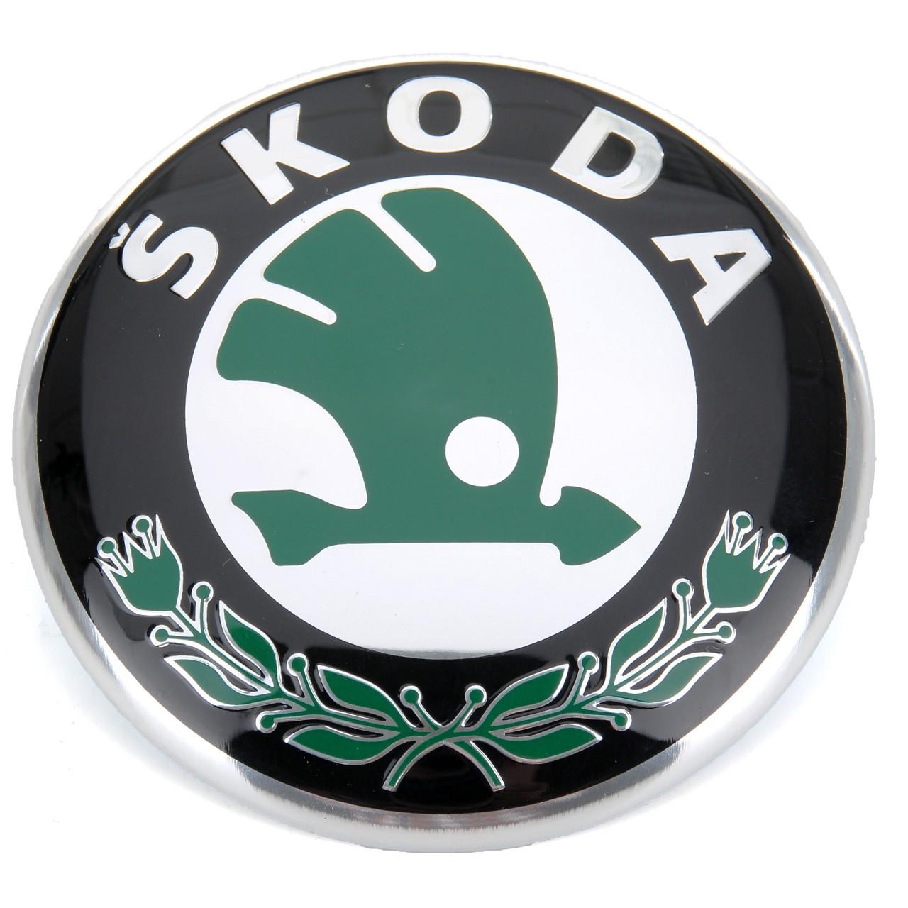 ORIGINAL Skoda Emblem Plakette Logo Wappen Fabia Octavia Roomster 1U0853621C MEL