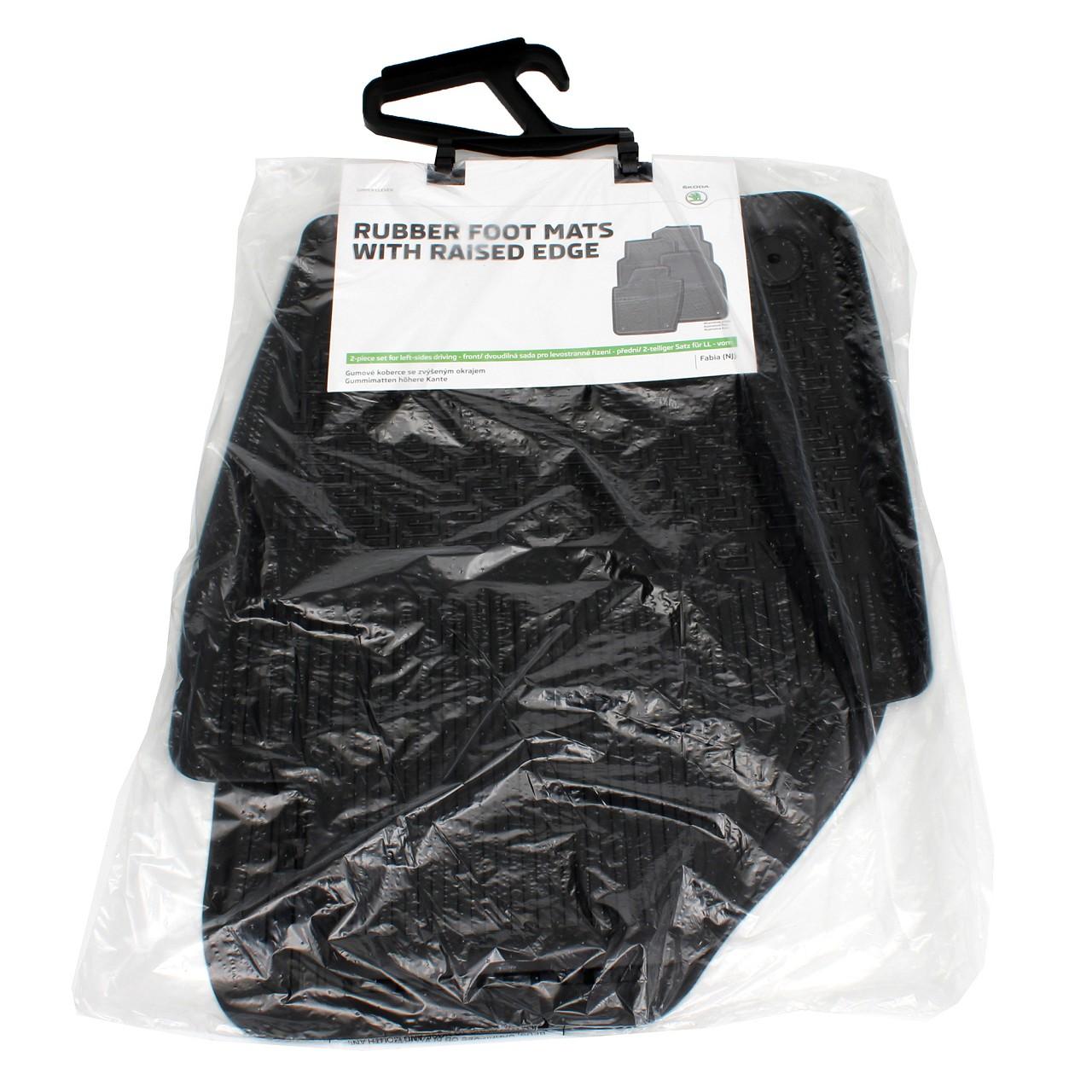 ORIGINAL Skoda Gummimatten Fußmatten Automatten Satz Fabia (NJ) VORNE 6V1061551