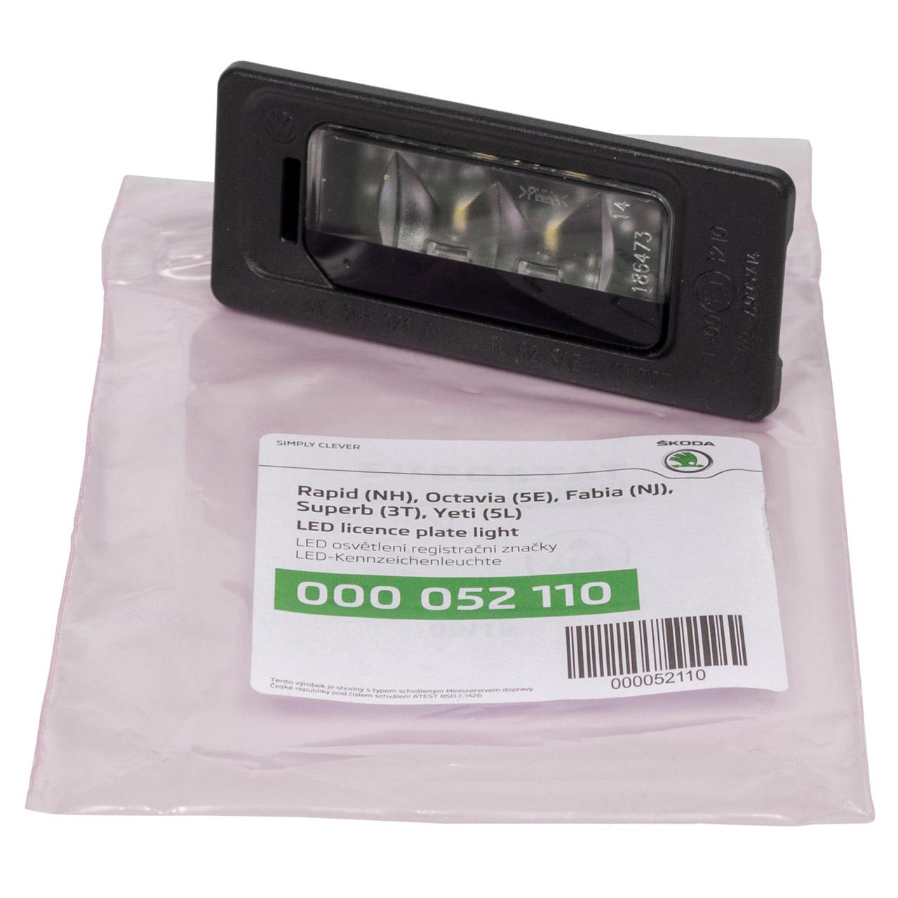 ORIGINAL Skoda Kennzeichenleuchte LED Octavia 3 Rapid (NH3) Yeti (5L) 000052110