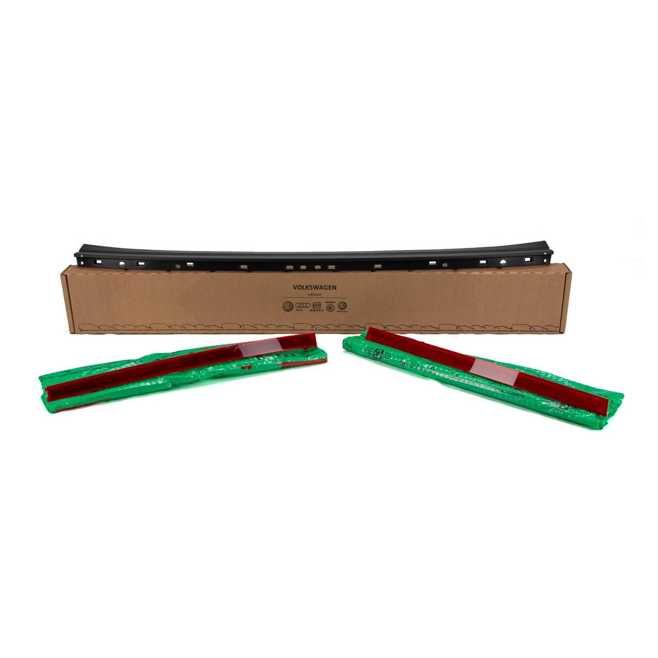 ORIGINAL Skoda Rückstrahler Schutzleiste Set Stoßfänger Tuning Nachrüstung Kodiaq RS