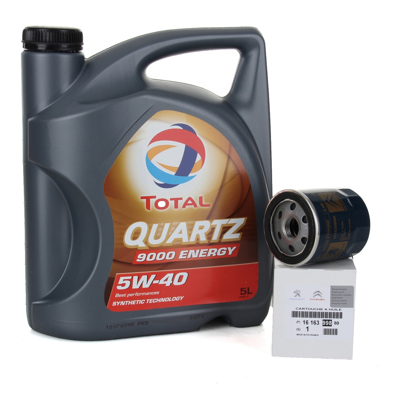 TOTAL QUARTZ 9000 ENERGY 5W-40 5 L + ORIGINAL Ölfilter C1 107 1.0 1616399880