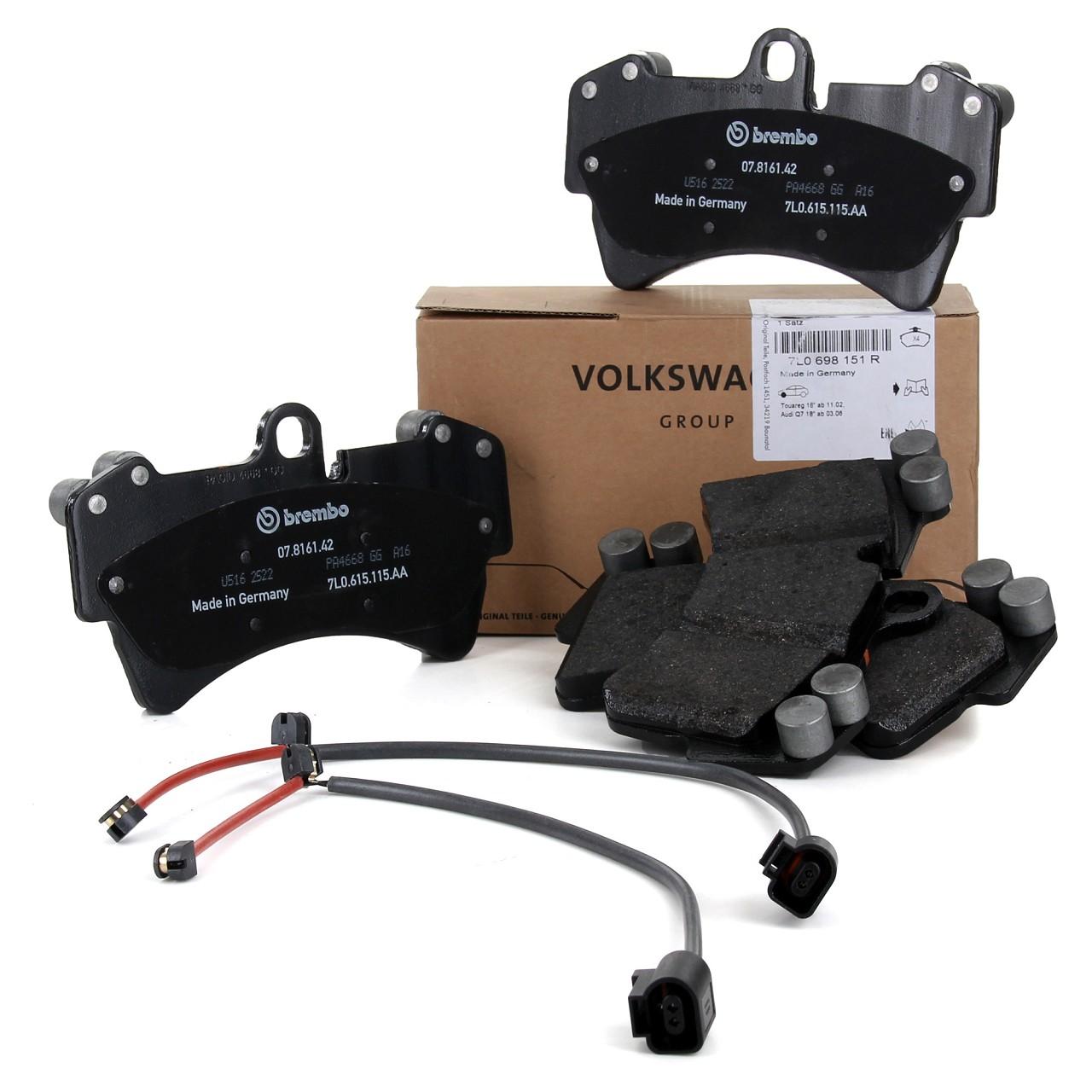 ORIGINAL Audi VW Bremsbeläge + Wako Q7 (4L) TOUAREG (7L) 1LF vorne 7L0698151R