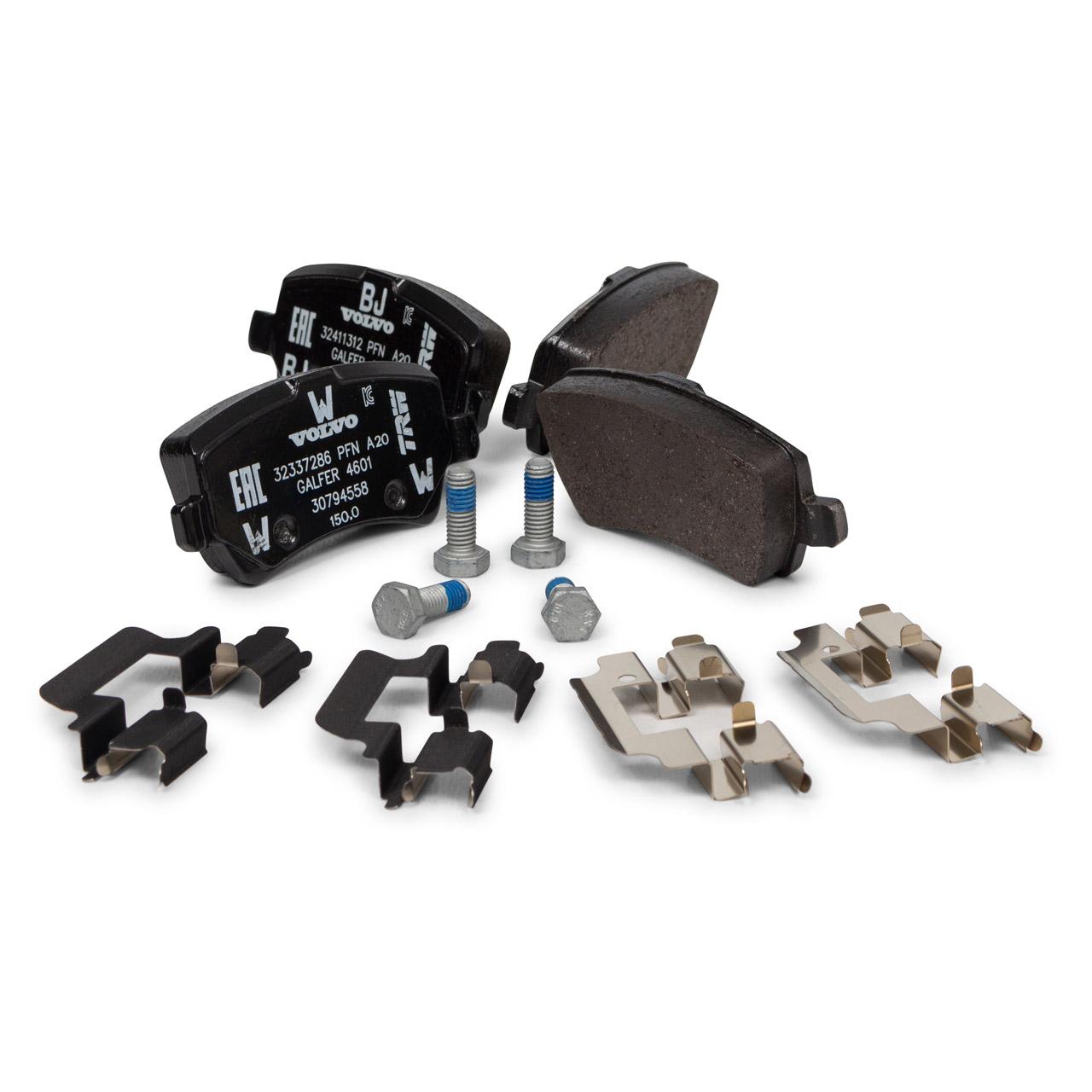 ORIGINAL Volvo Bremsen Set Kit Bremsscheiben + Bremsbeläge XC60 (156) hinten