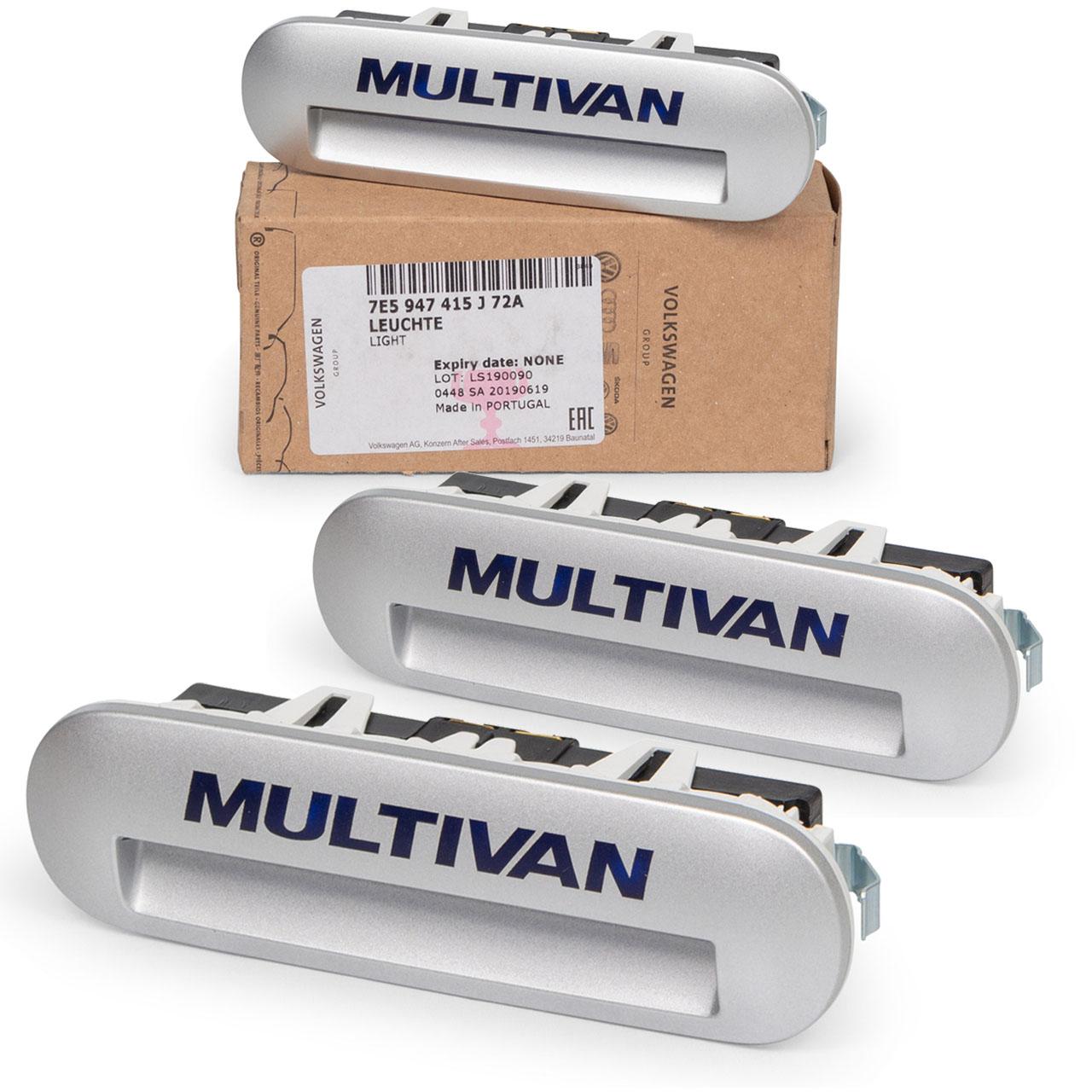 3x ORIGINAL VW Einstiegsbeleuchtung MULTIVAN TRANSPORTER T5 T6 7E5947415J72A