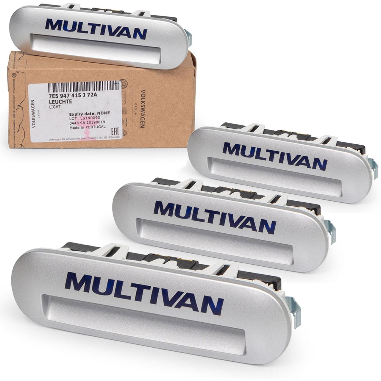 4x ORIGINAL VW Einstiegsbeleuchtung MULTIVAN TRANSPORTER T5 T6 7E5947415J72A
