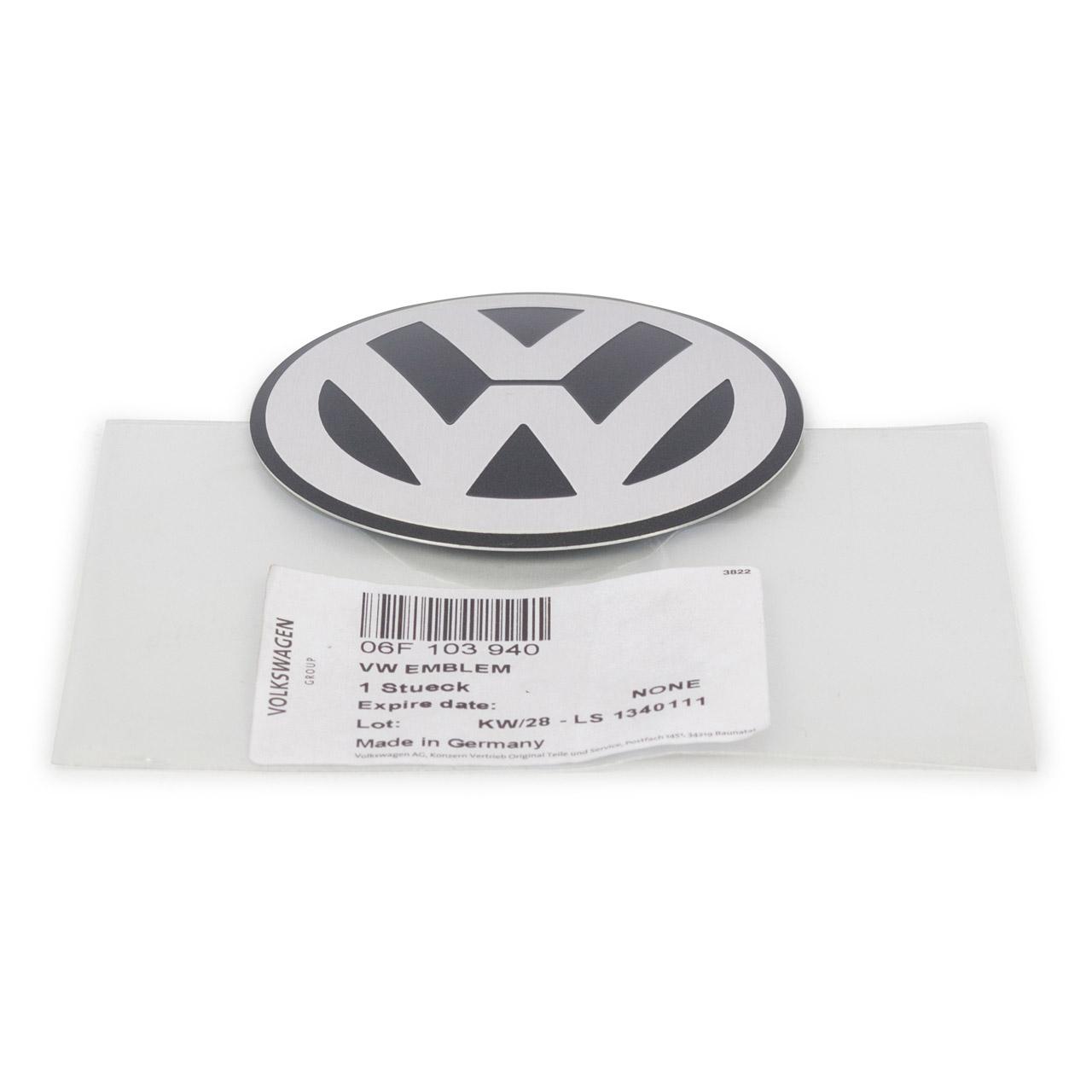ORIGINAL VW Emblem Logo Motoabdeckung Caddy 3 Golf 6 Jetta Passat Tiguan Touran 06F103940