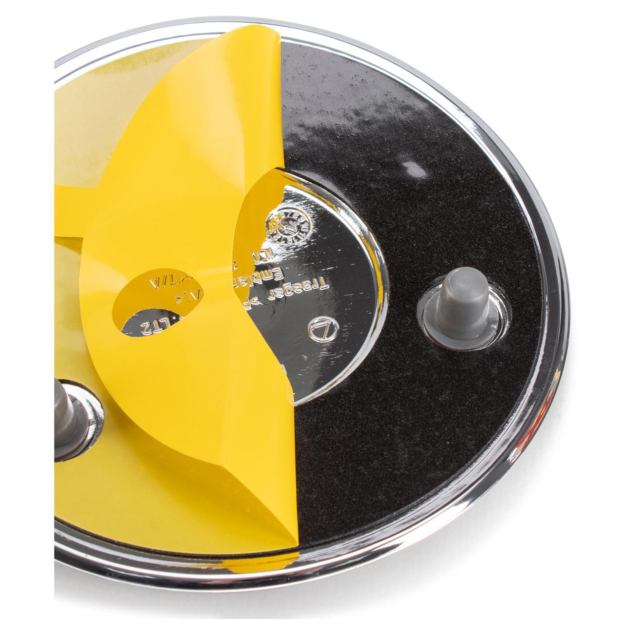 ORIGINAL VW Emblem Logo CHROM GRAU New Beetle bis 2005 vorne 1C0853617A WV9