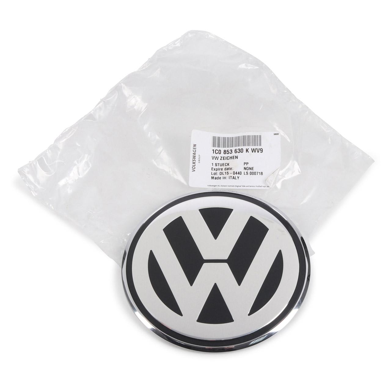 ORIGINAL VW Emblem Logo Heckklappe Chrom Grau New Beetle 9C 1C 1Y bis 2005 1C0853630K WV9