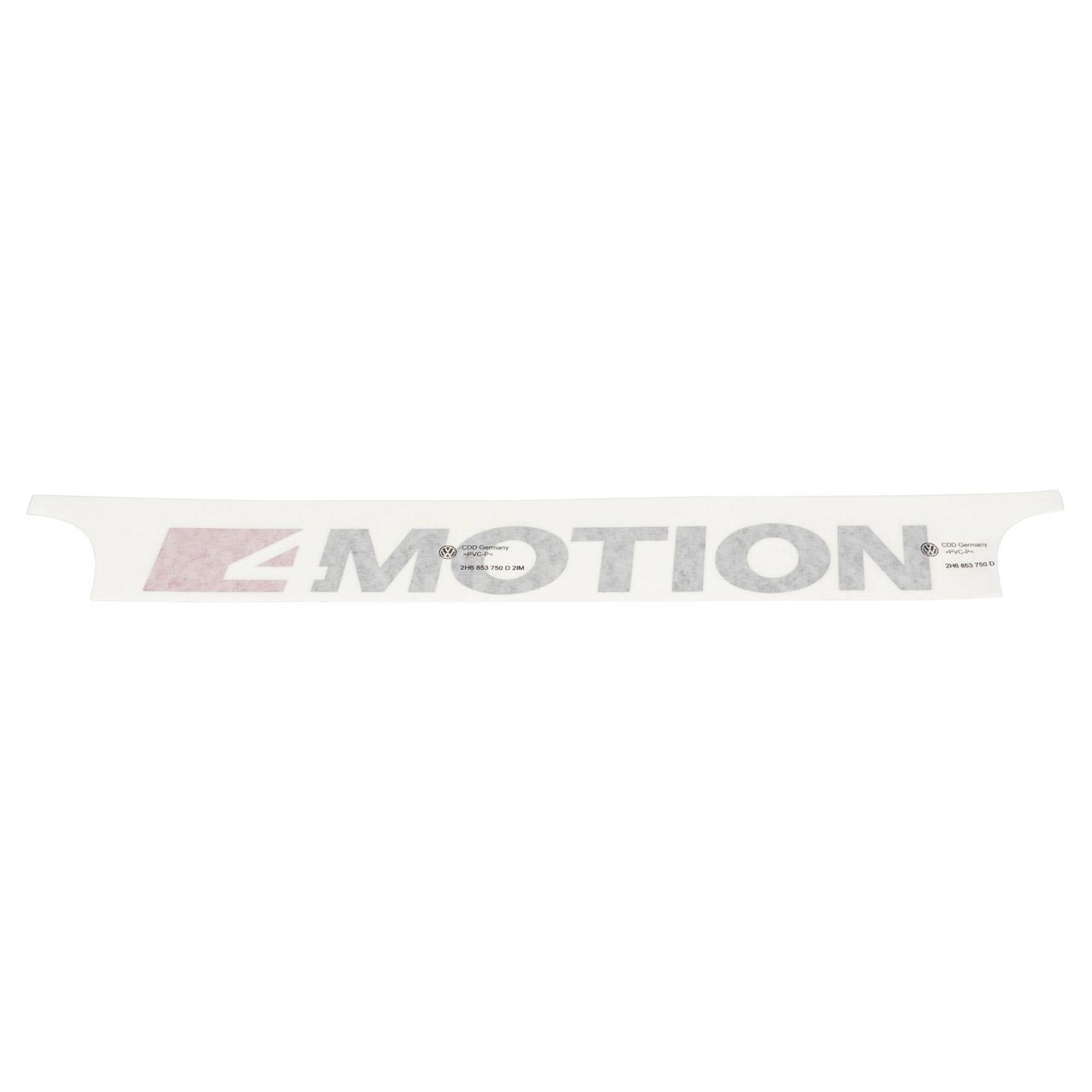 2x ORIGINAL VW Schriftzug 4 Motion Tornadorot Schwarz Amarok Crafter hinten 2H6853750D 2IM