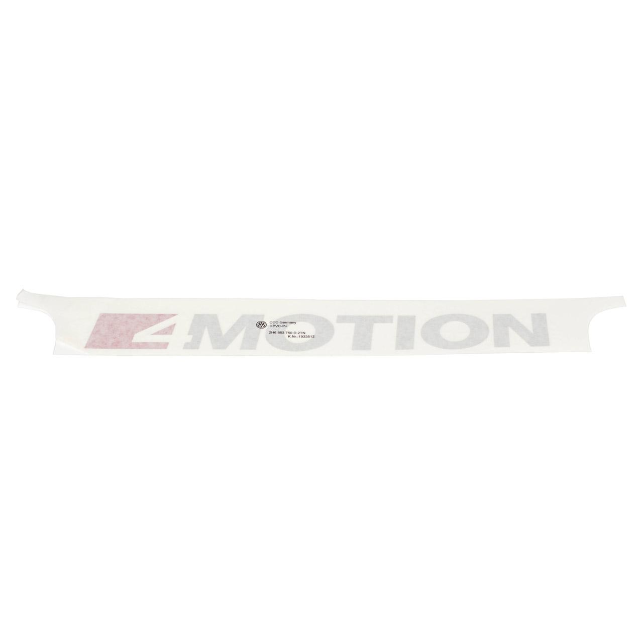 2x ORIGINAL VW Schriftzug 4 Motion Tornadorot Reflexsilber Amarok hinten 2H6853750D 2TN