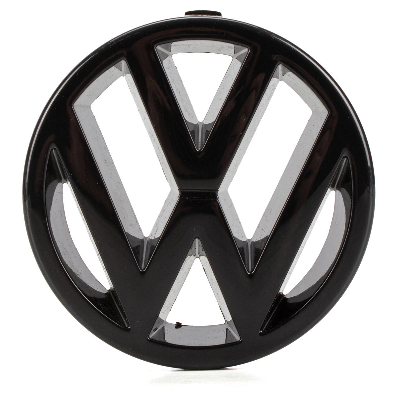 ORIGINAL VW Emblem Logo Symbol Kühlergrill Schwarz Golf 2 3 T4 Vento 323853601 041
