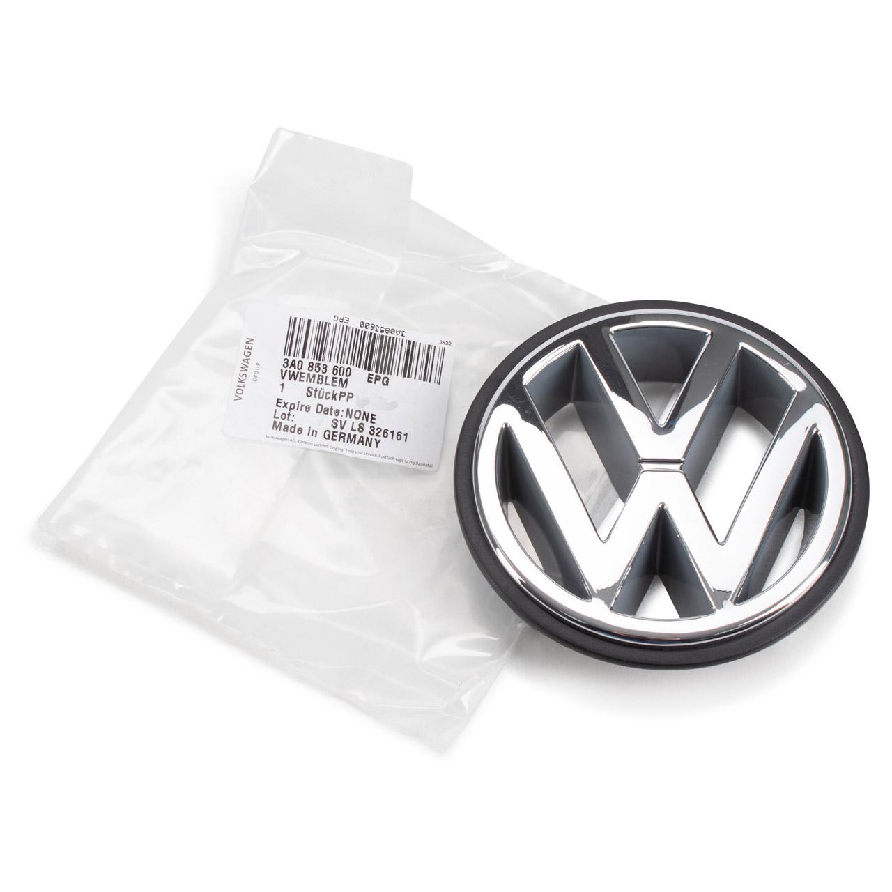 ORIGINAL VW Emblem Logo Kühlergrill Caddy 2 Golf 2 3 Polo 6N Passat T4 3A0853600 EPG