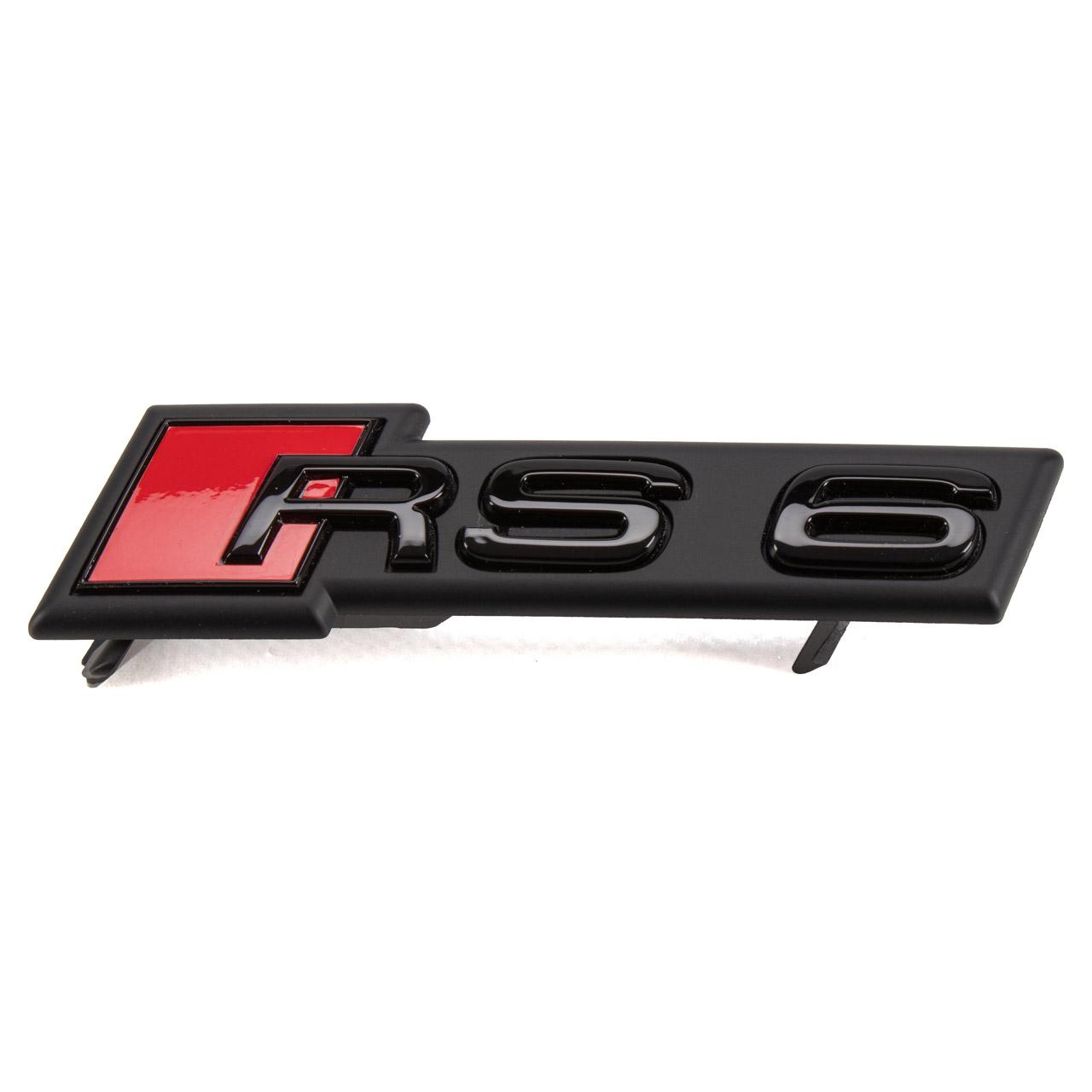 ORIGINAL Audi Emblem Schriftzug Kühlergrill RS6 Black Edition A6 C8 4K0853736D T94