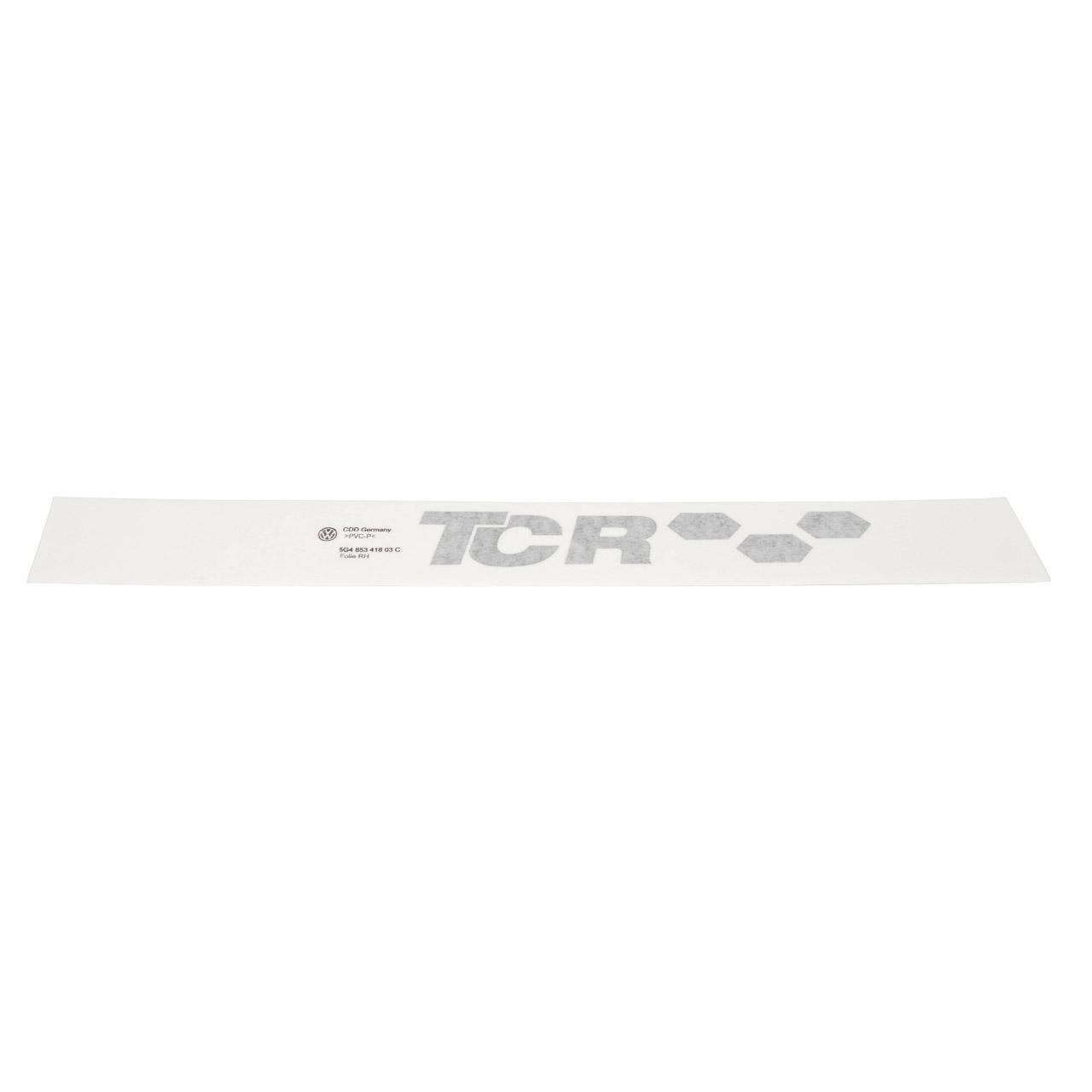 2x ORIGINAL VW Emblem Schriftzug TCR Aufkleber Golf 7 hinten 5G4853417 03C + 5G4853418 03C