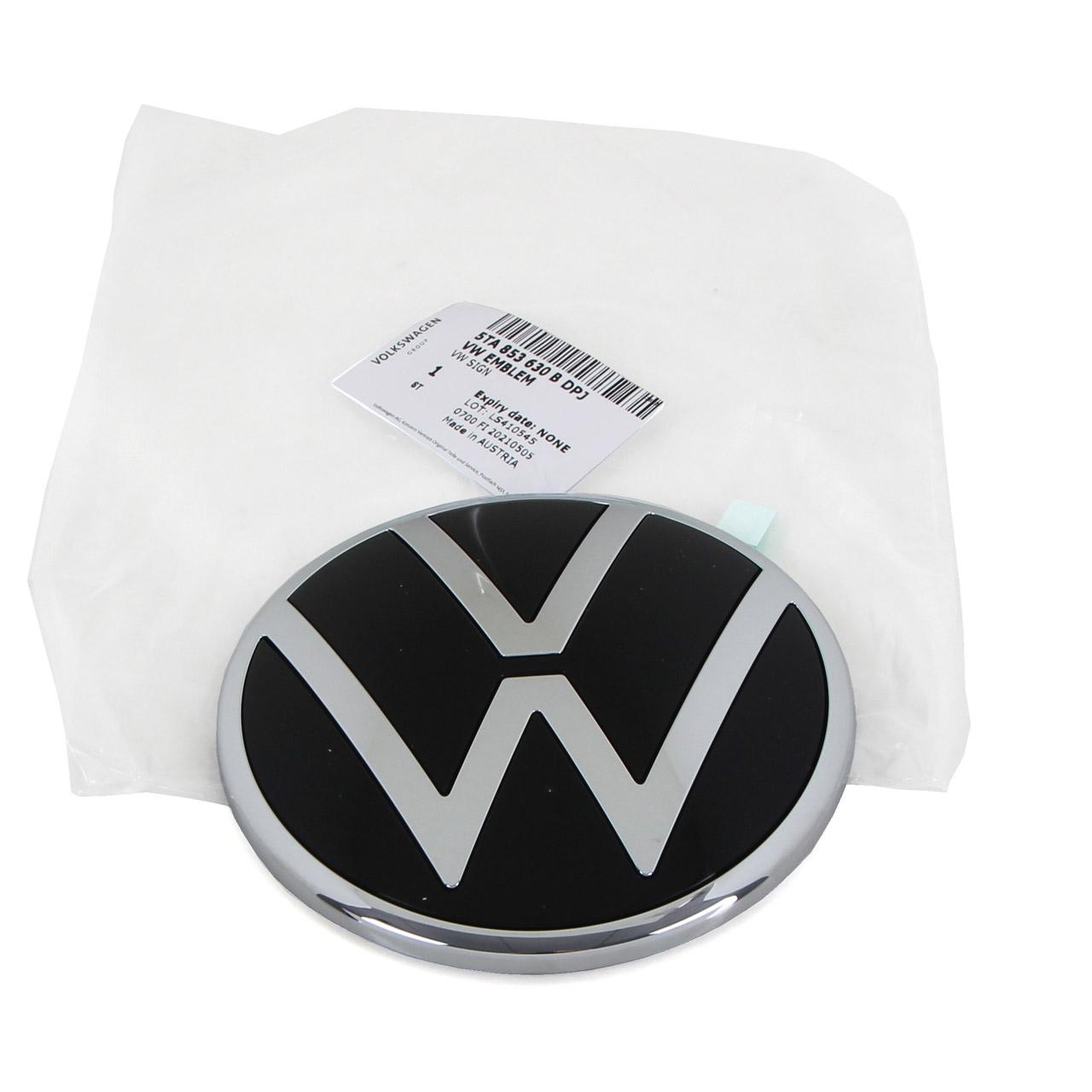 ORIGINAL VW Emblem Logo Plakette Heckklappe Chrom Schwarz Touran 5T 5TA853630B DPJ