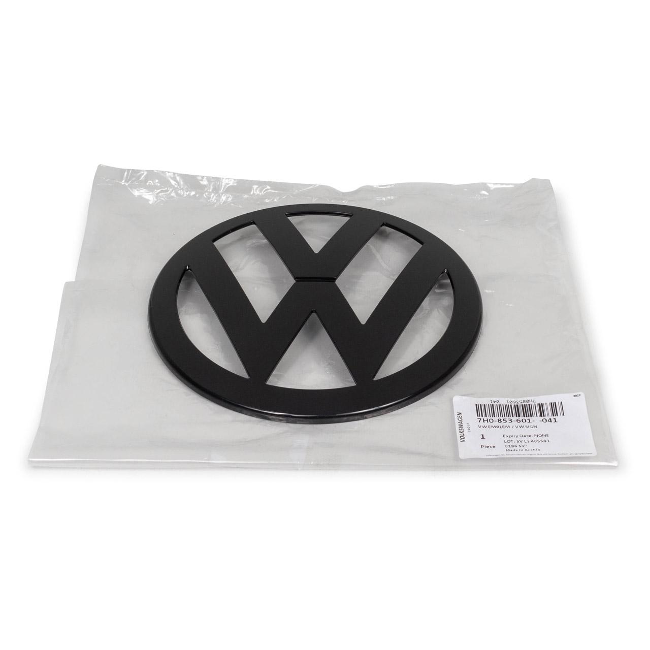 ORIGINAL VW Emblem Logo Symbol Kühlergrill Schwarz T5 bis 2010 7H0853601 041