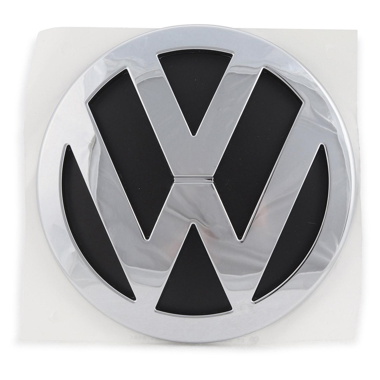 ORIGINAL VW Emblem Logo Heckklappe Chrom Schwarz T5 7H0853630 ULM
